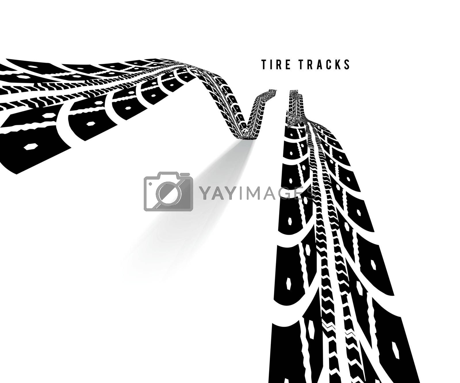 Royalty free image of Tire tracks vector illustration by sermax55