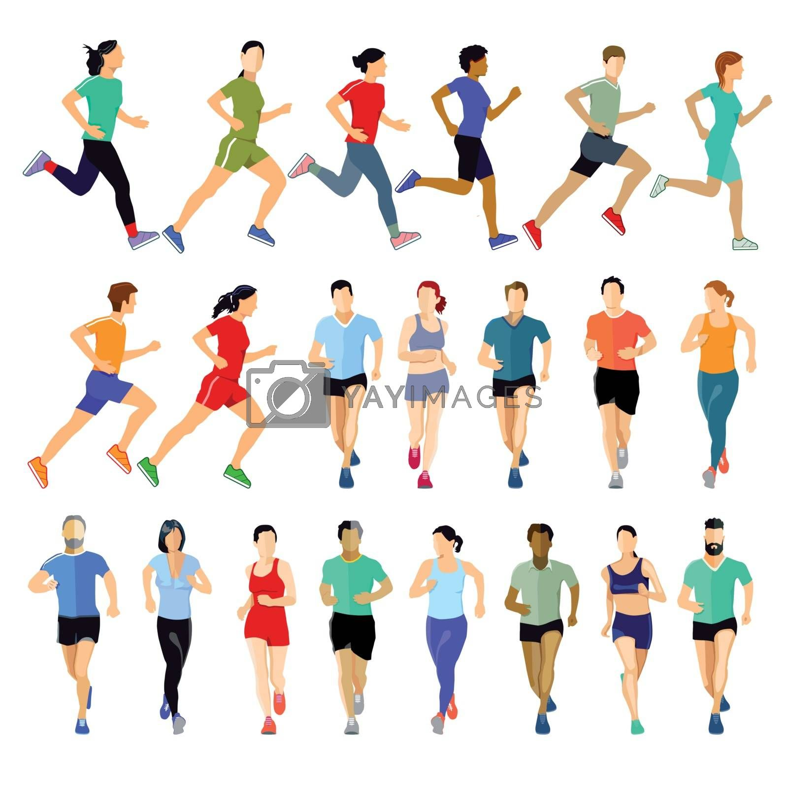 Group of runners collection
