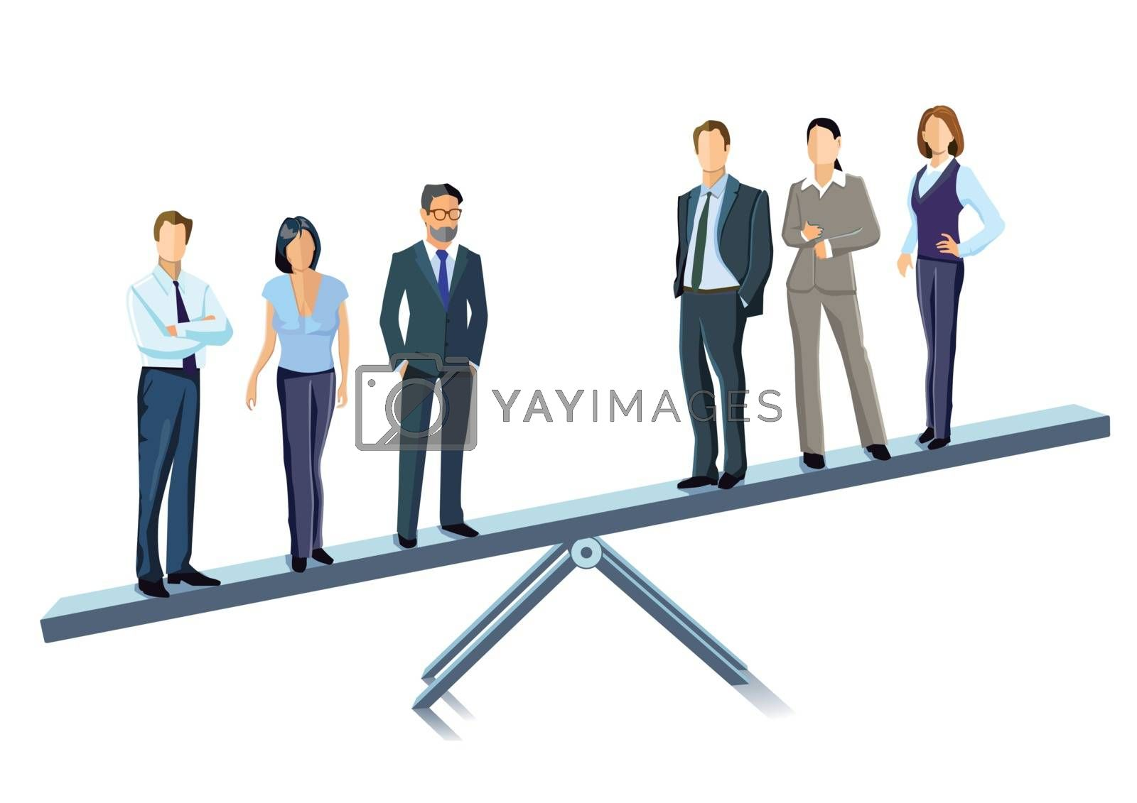 Balance, compensation, equipoise illustration