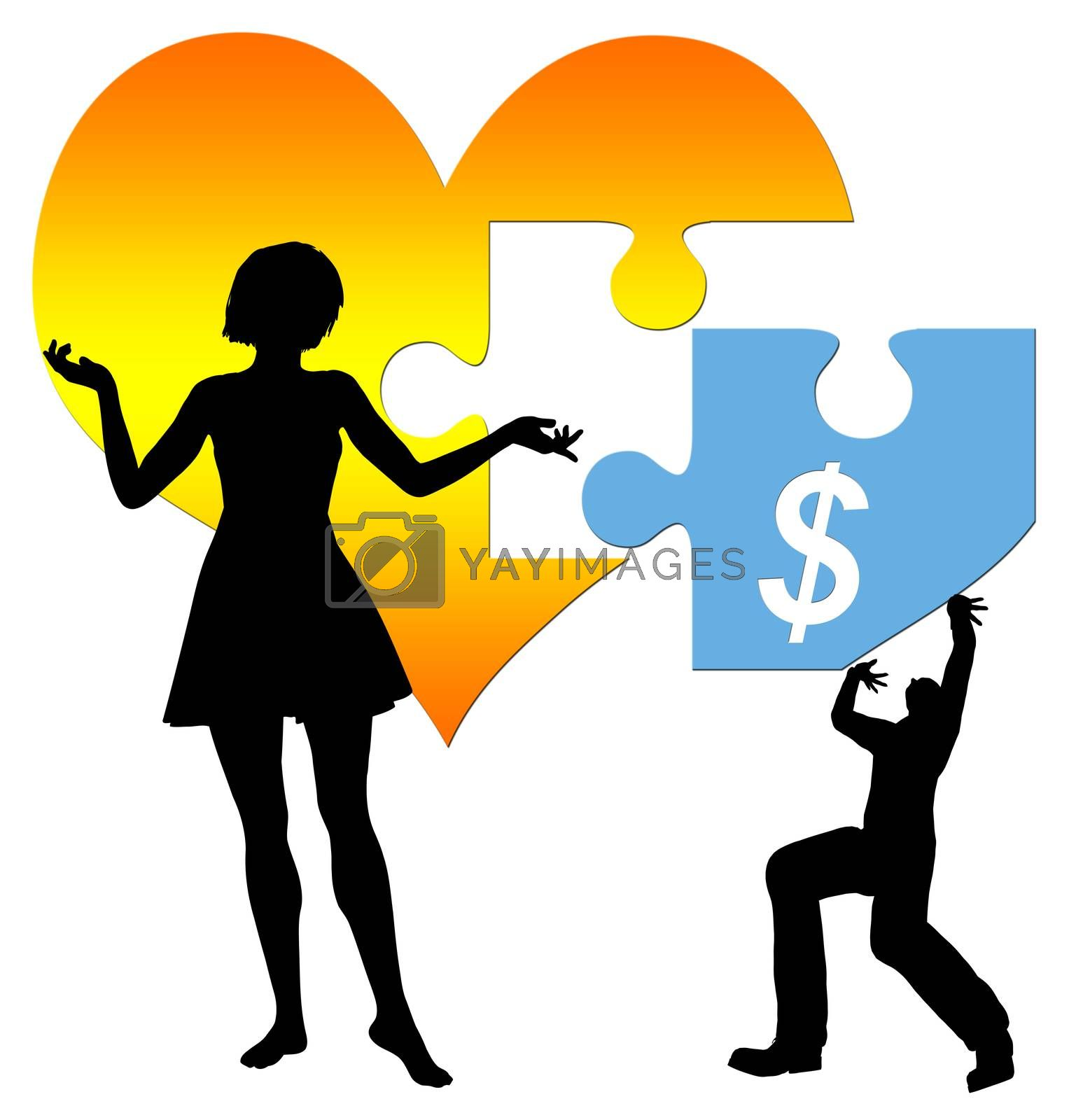 Love and money finding together