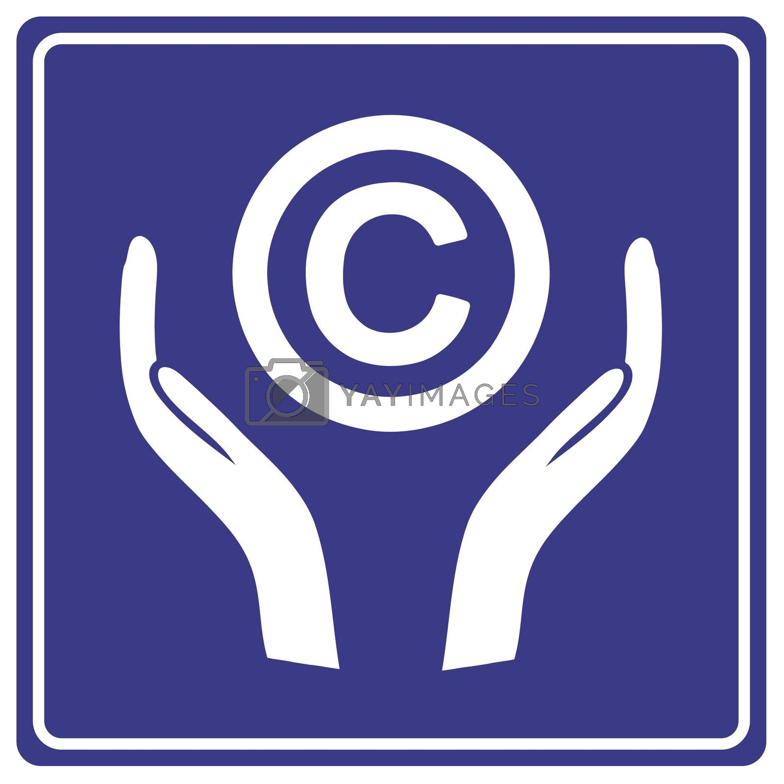 Keep your Copyright safe. Kind reminder notice to consider copyright as intellectual property and not to misuse it and infringe the law
