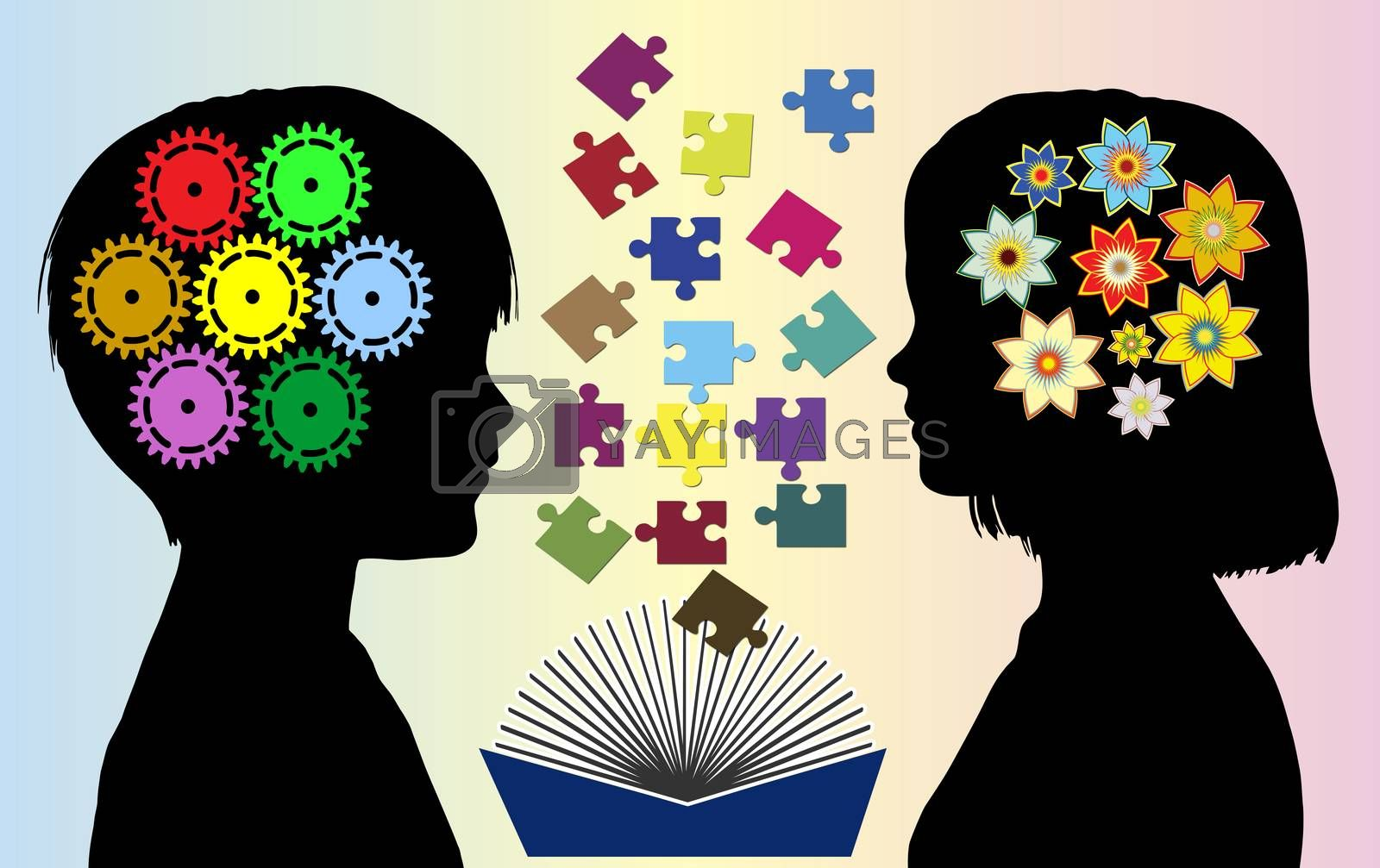 Different world. Boys and girls develop different mode of thought and abilities