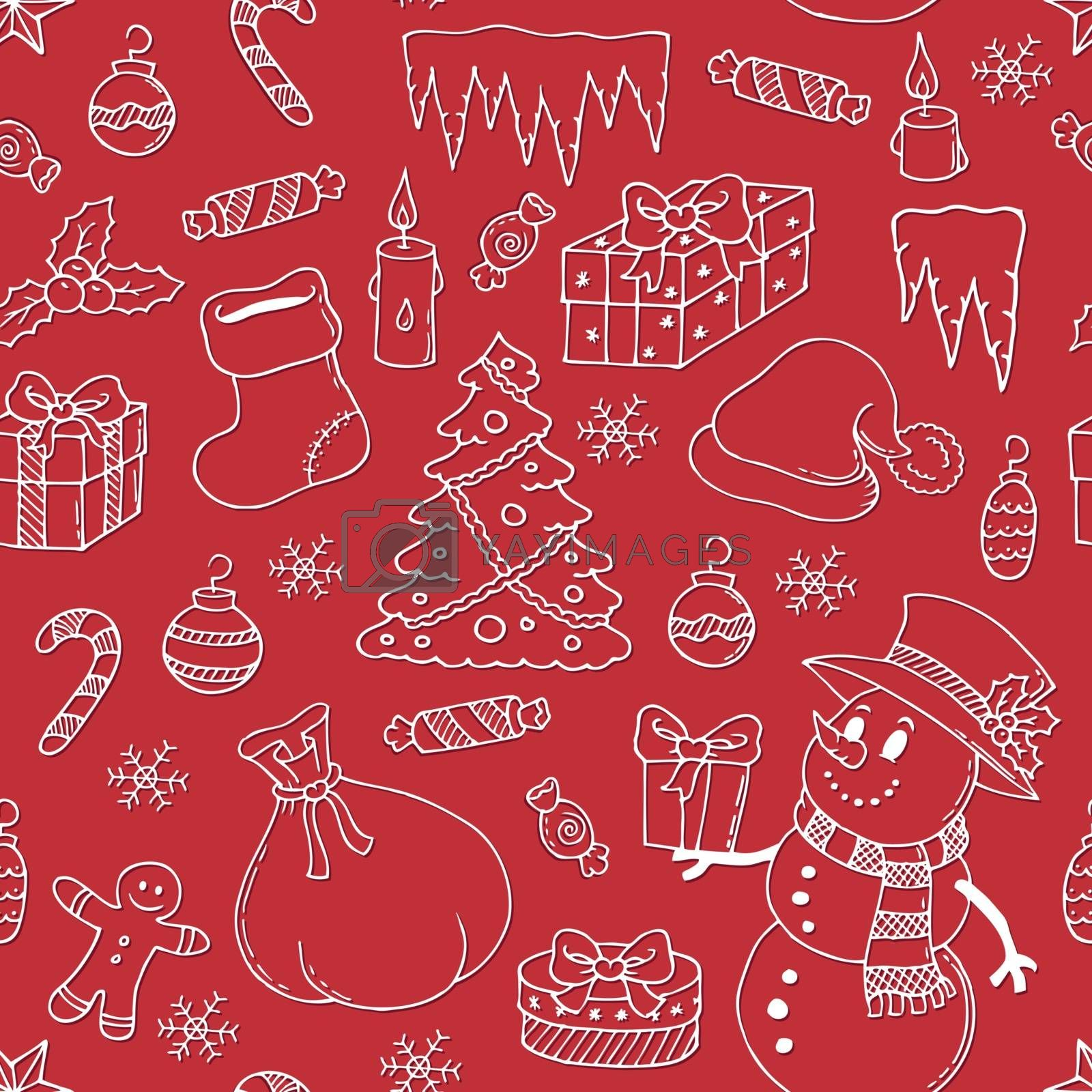 Seamless background Christmas 3 - eps10 vector illustration.