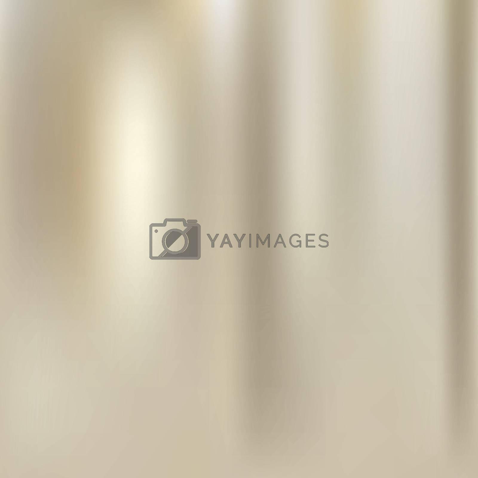 Elegant golden fabric texture background. Vector Illustration
