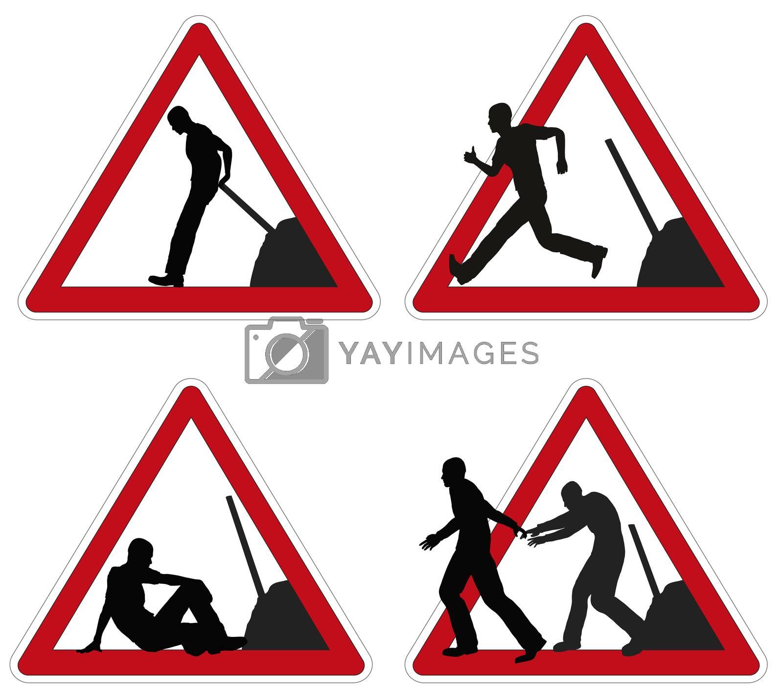 Worker taking brake. by Bambara