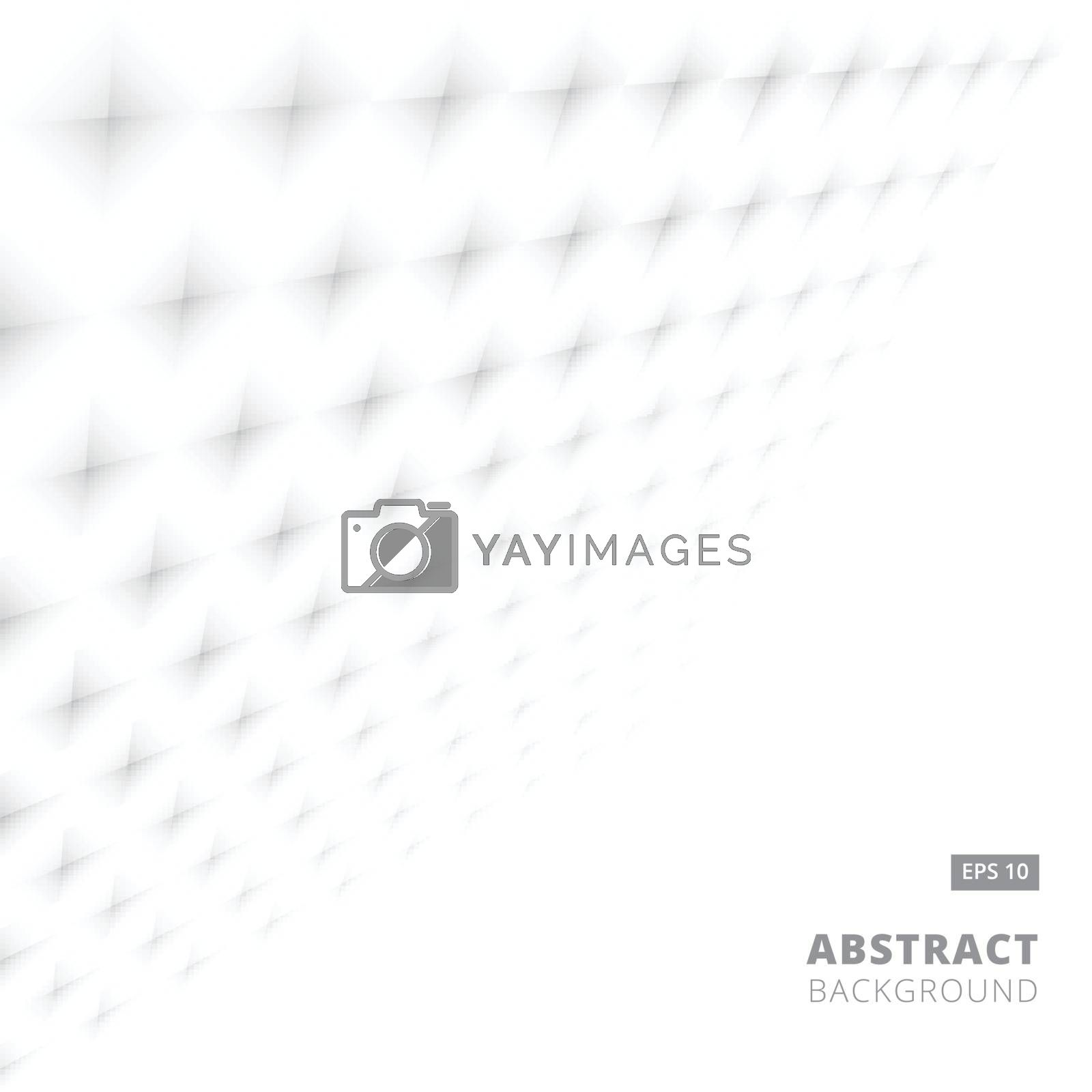 Abstract stripe background white geometric shapes perspective pattern. Vector illustration