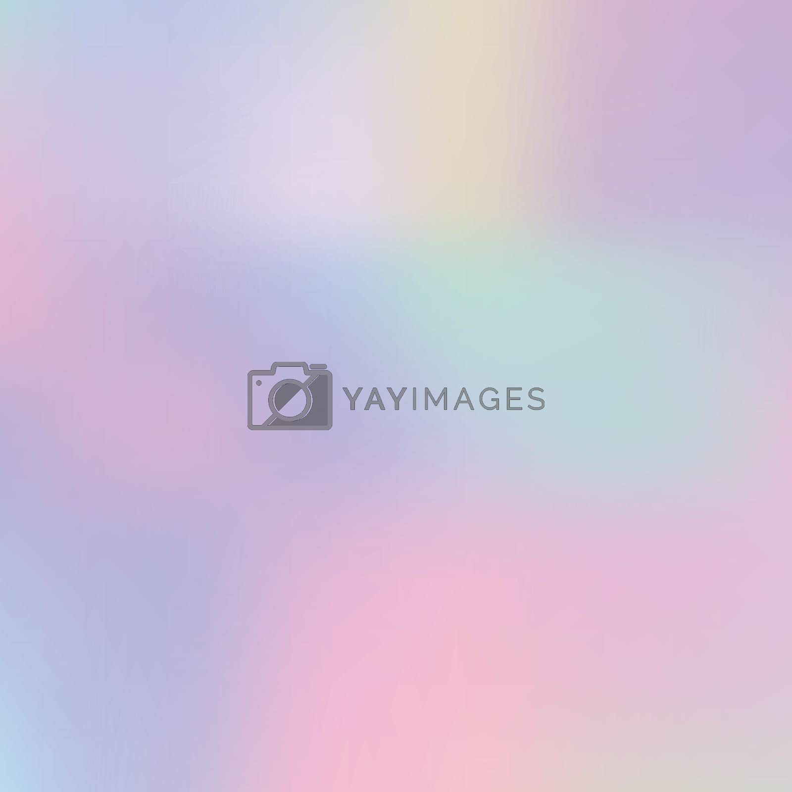 Abstract blurred pastel color holographic trendy background. Vector illustration