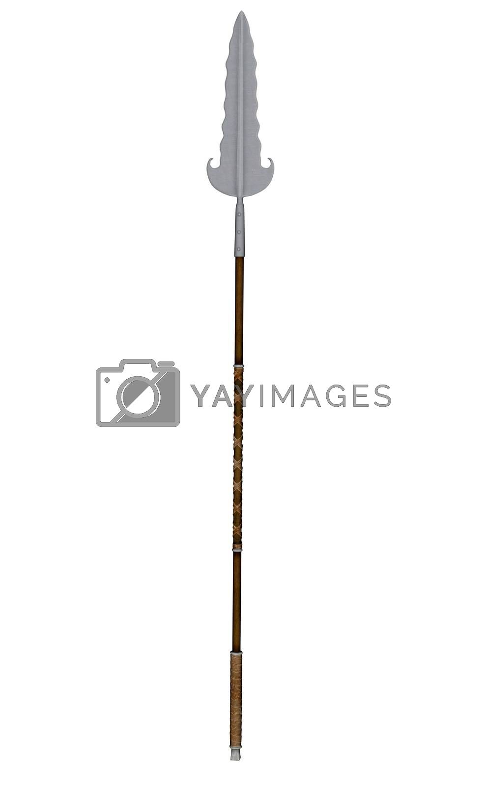 Partizan weapon isolated in white background - 3D render