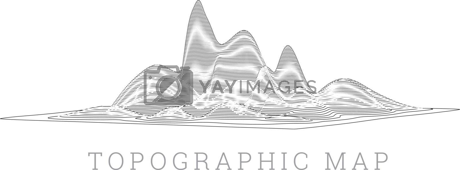 Royalty free image of Topographical map of the locality, vector illustration by sermax55