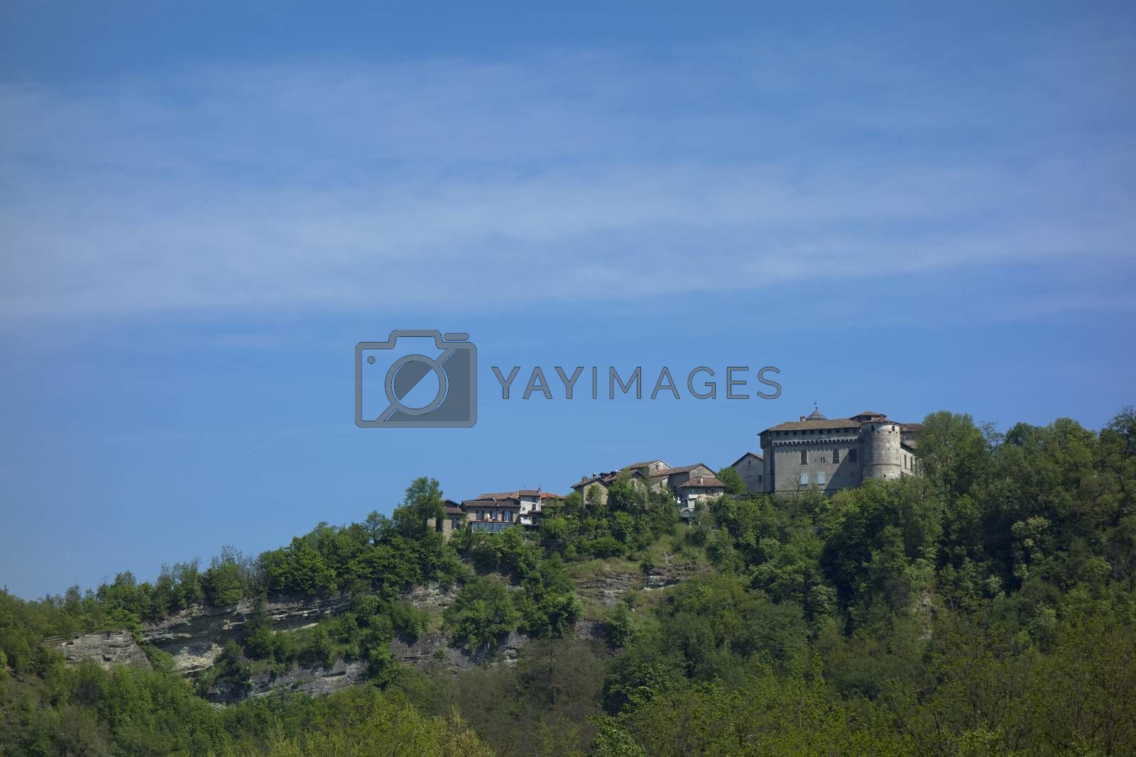 ancient medieval castle on top of a rock