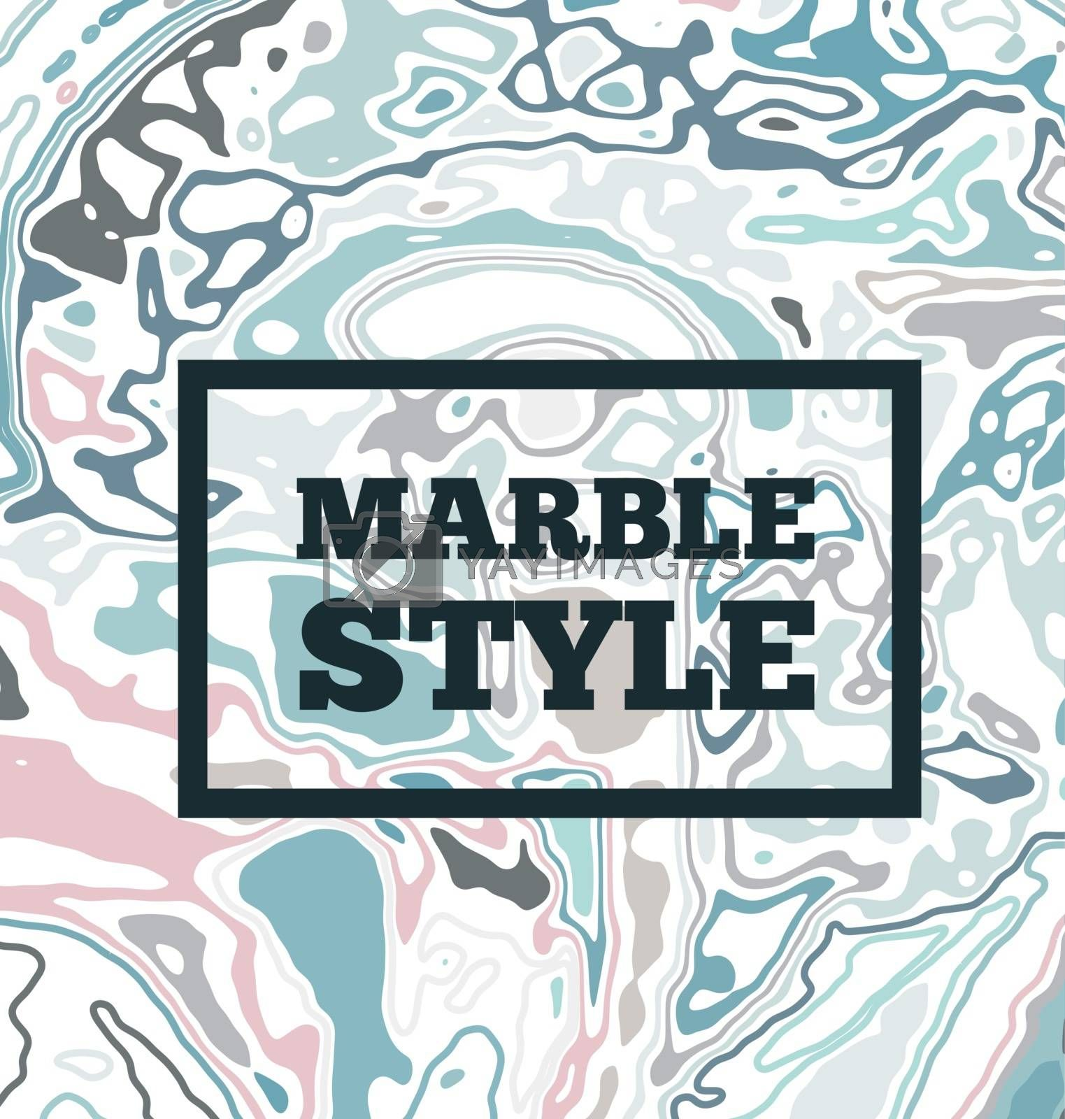 Royalty free image of Marble ink background. Vector illustration by sermax55