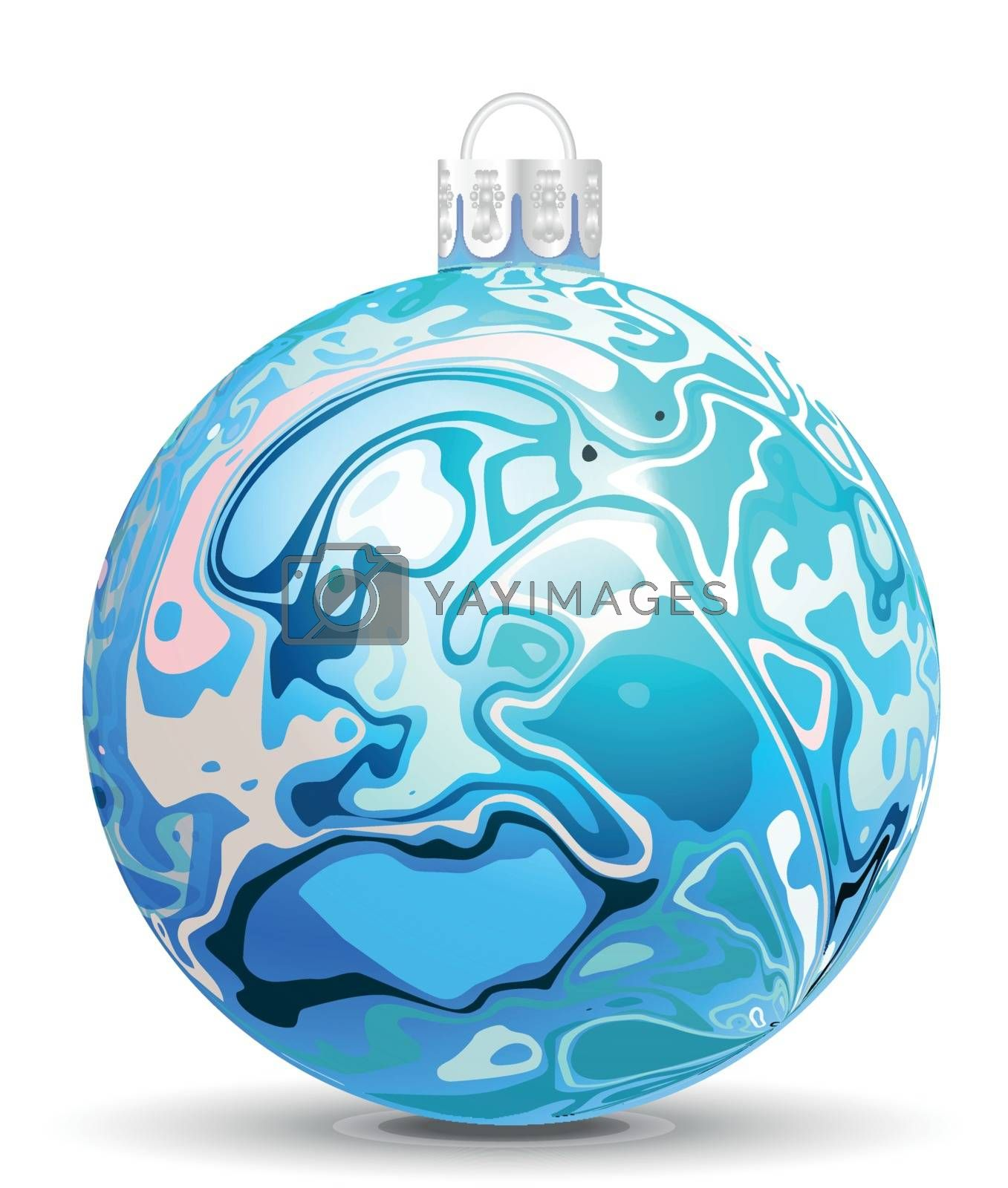 Royalty free image of Christmas vector ball in the style of Marble Ink by sermax55