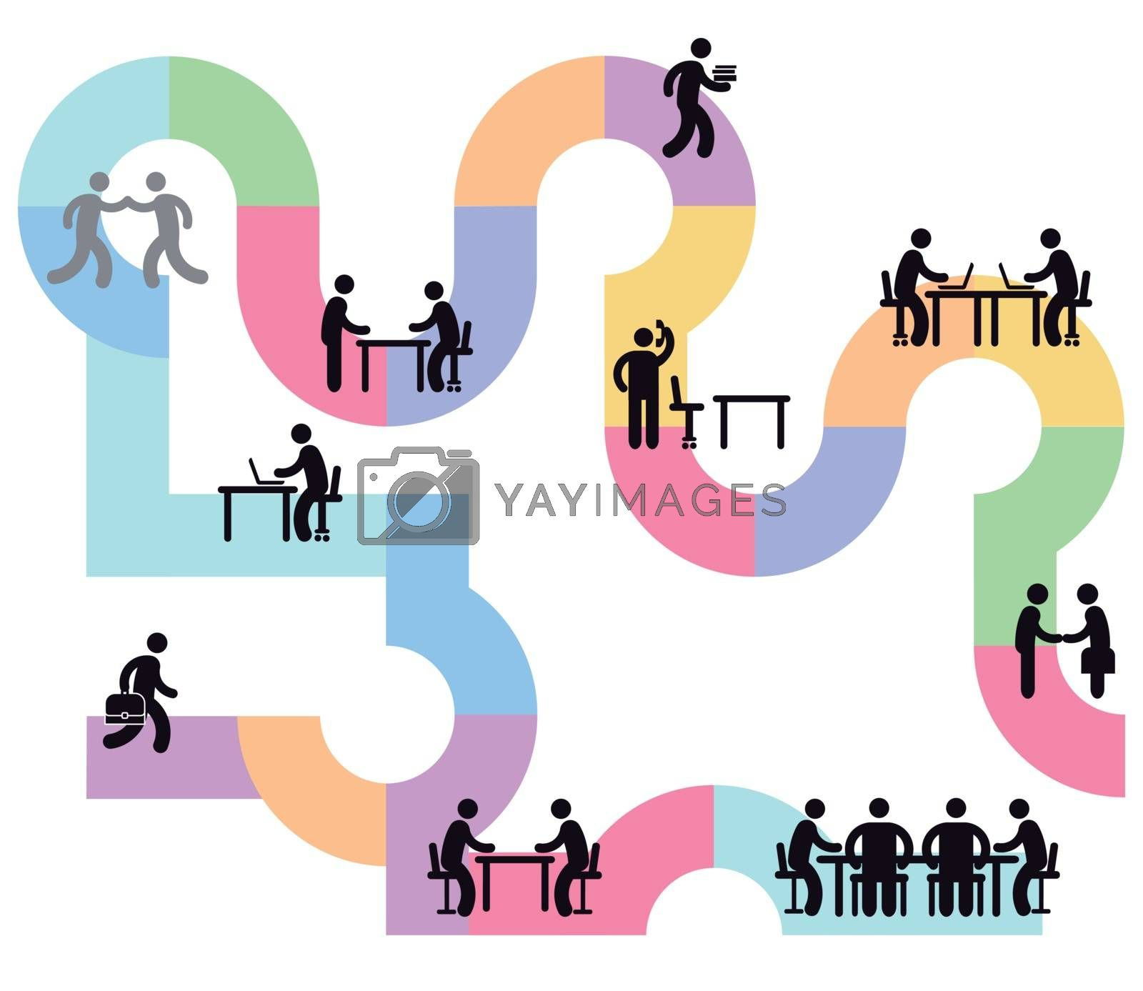 Business team and team work, workflowk