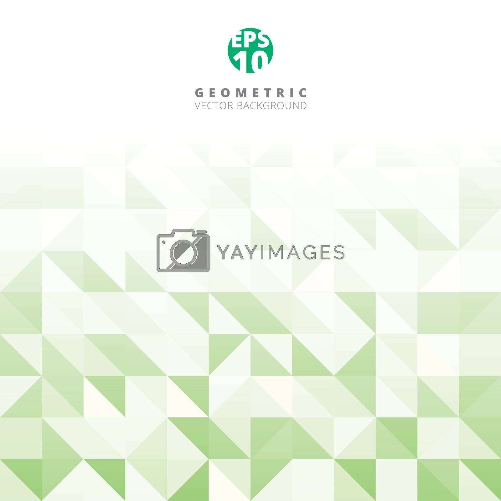 Abstract gray triangle and square in green and white color pattern, Vector illustration, copy space