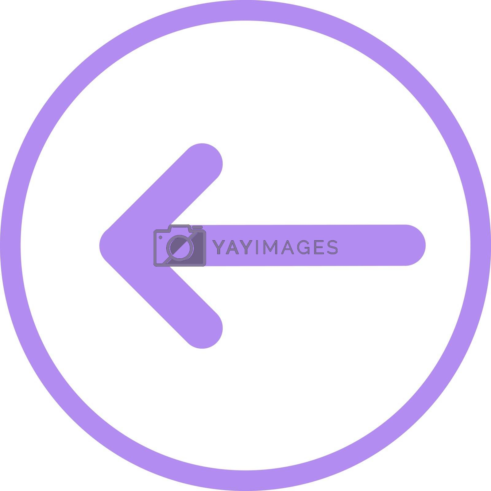Pointer, arrow in modern flat style. Arrow vector button isolated on white background. Symbol for web design, site, app, UI.