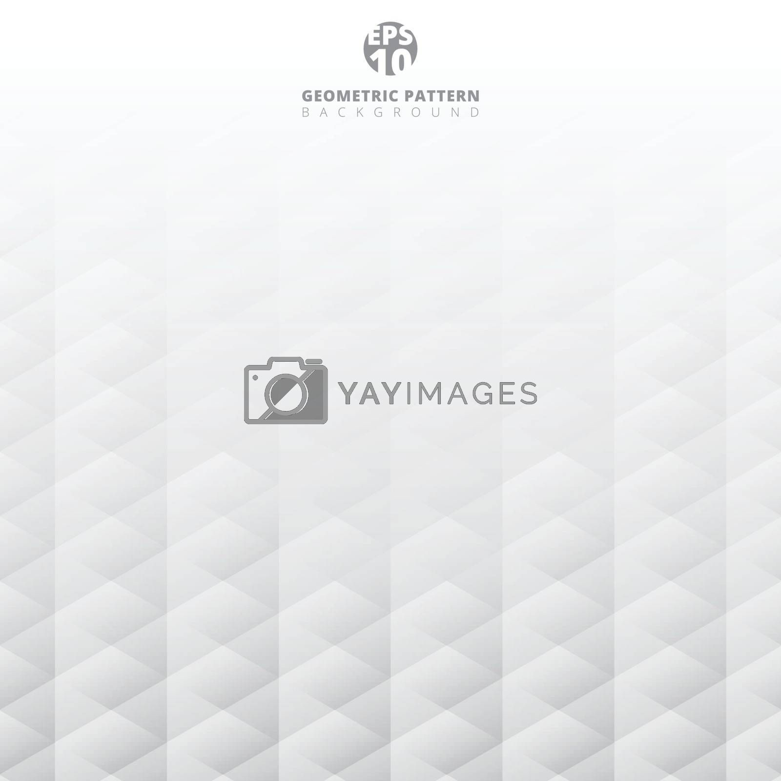 Abstract geometric hexagon pattern white and gray background with copy space, Creative design templates, Vector illustration