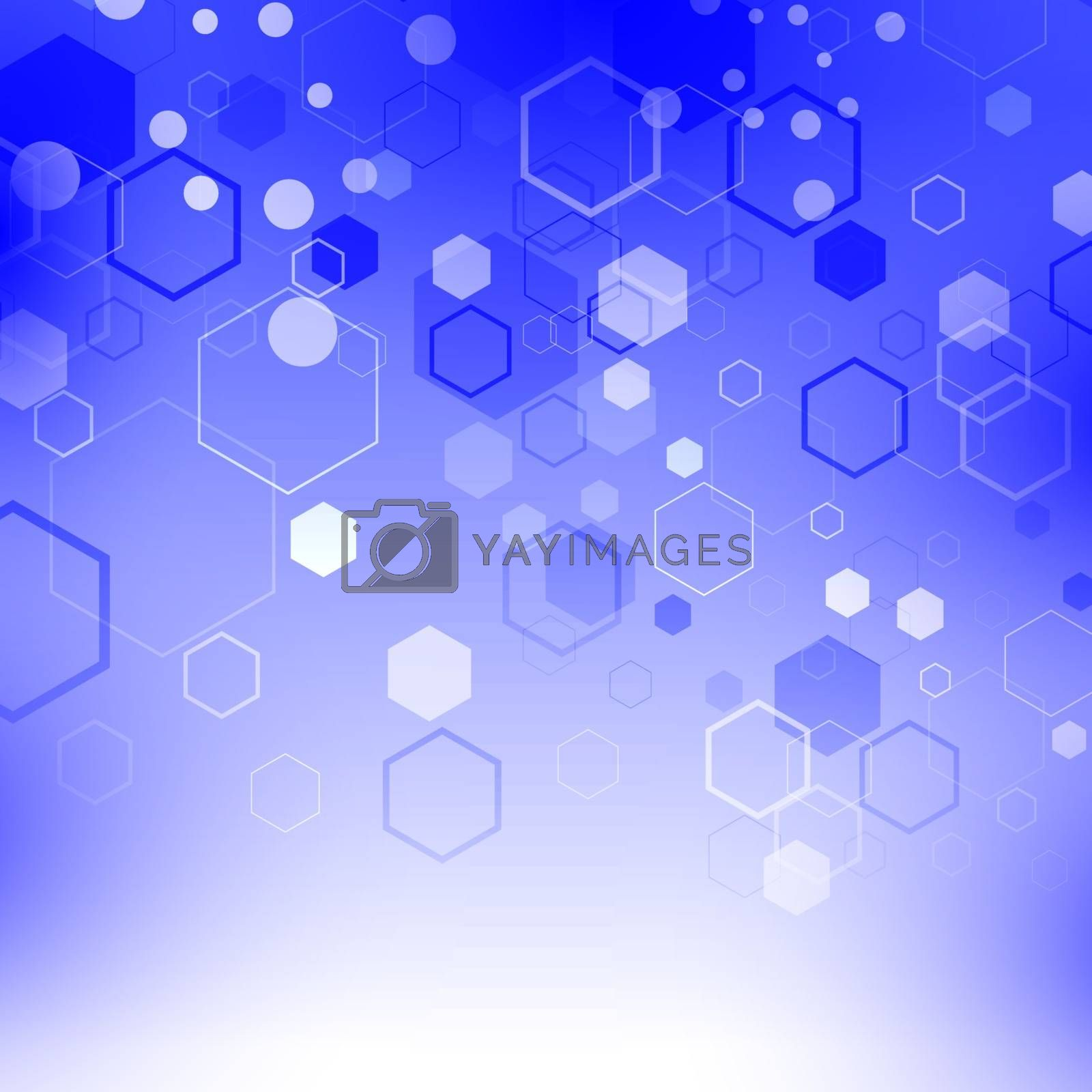 Blue Technology Background with Particle by valeo5