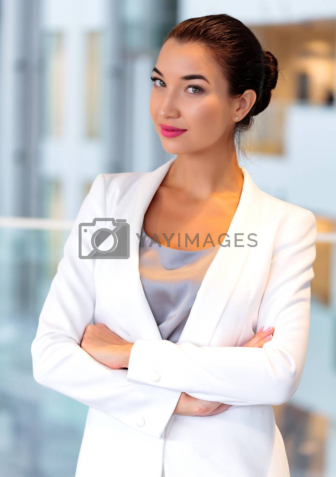 Pretty business woman in an office