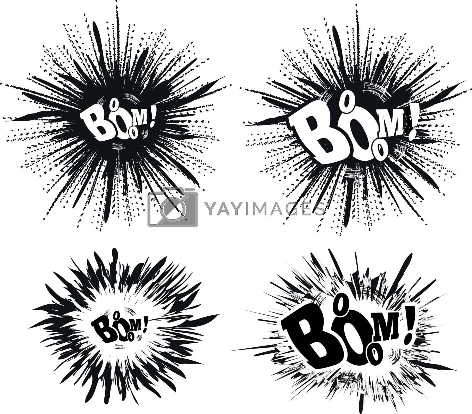 Comic speech bubble stars. Explosion vector illustration