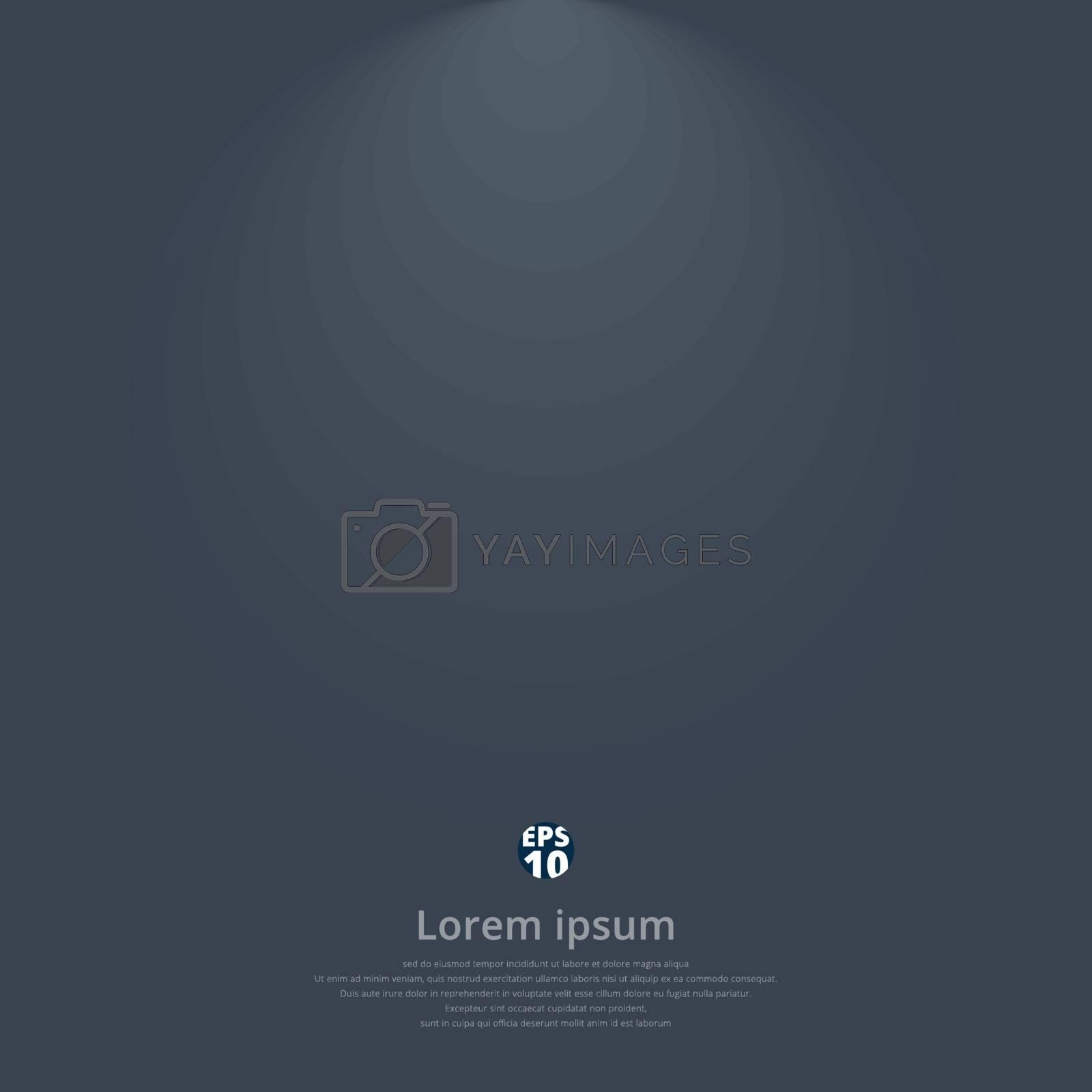 Dark gray gradient vector modern elegant with lighting on top of background. Vector illustration
