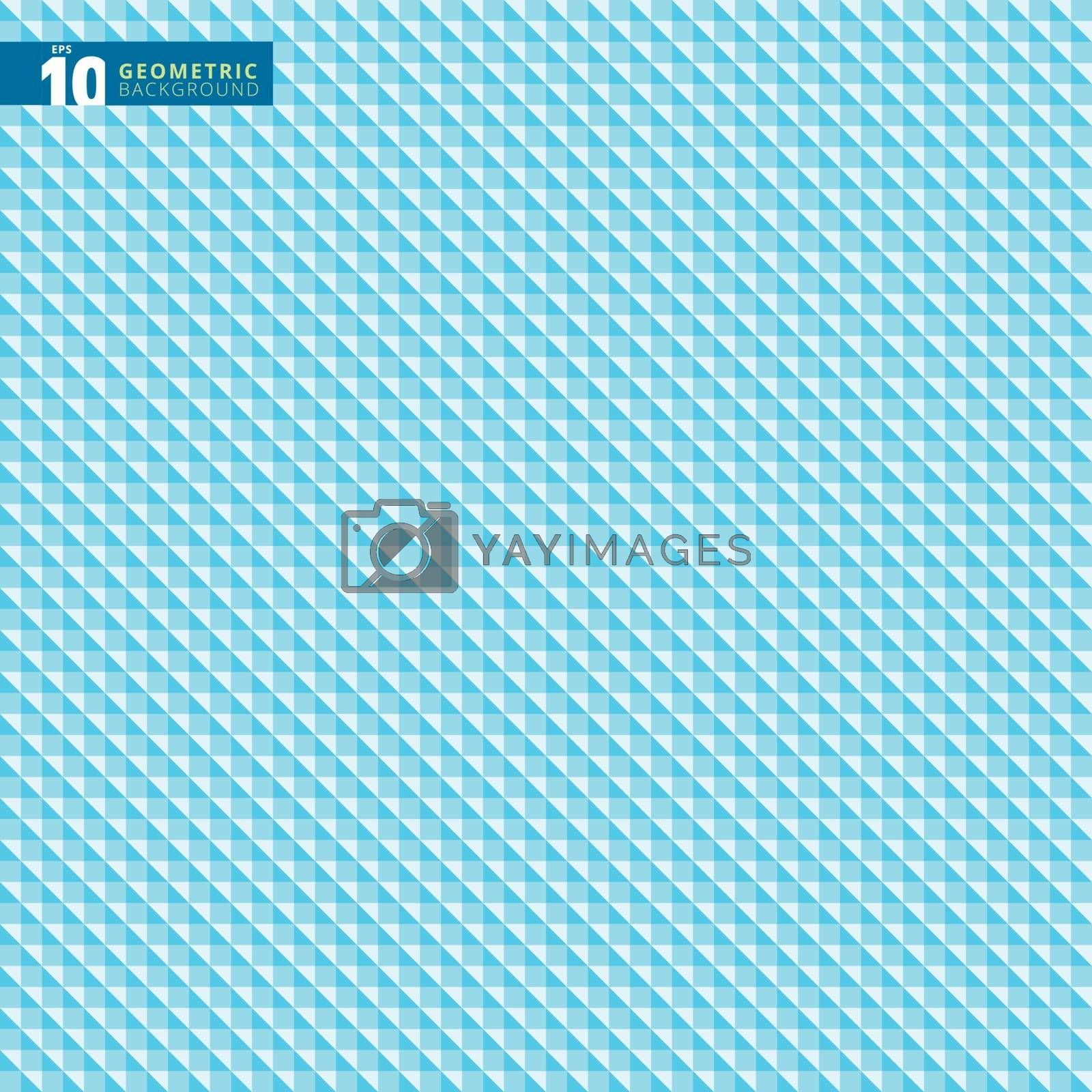 Abstract geometric triangle blue pattern background texture, Vector illustration