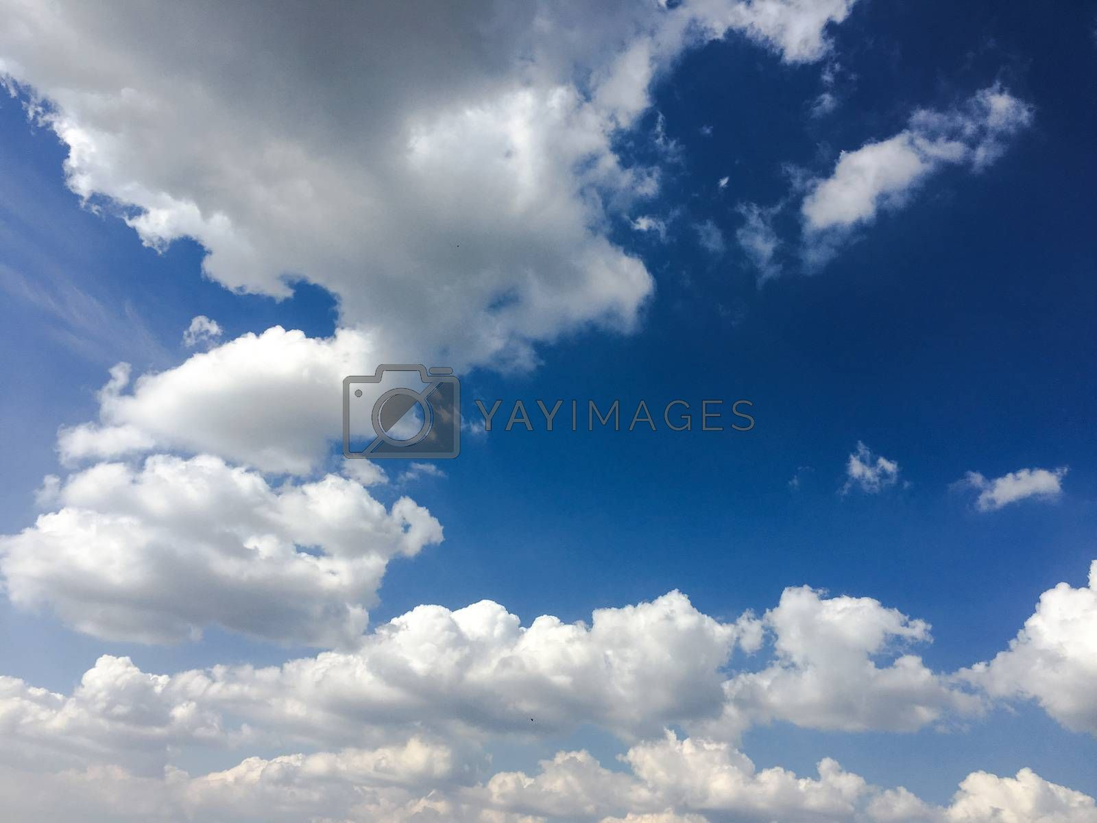 Beautiful blue sky with clouds background.Sky clouds.Sky with clouds weather nature cloud blue. by titco