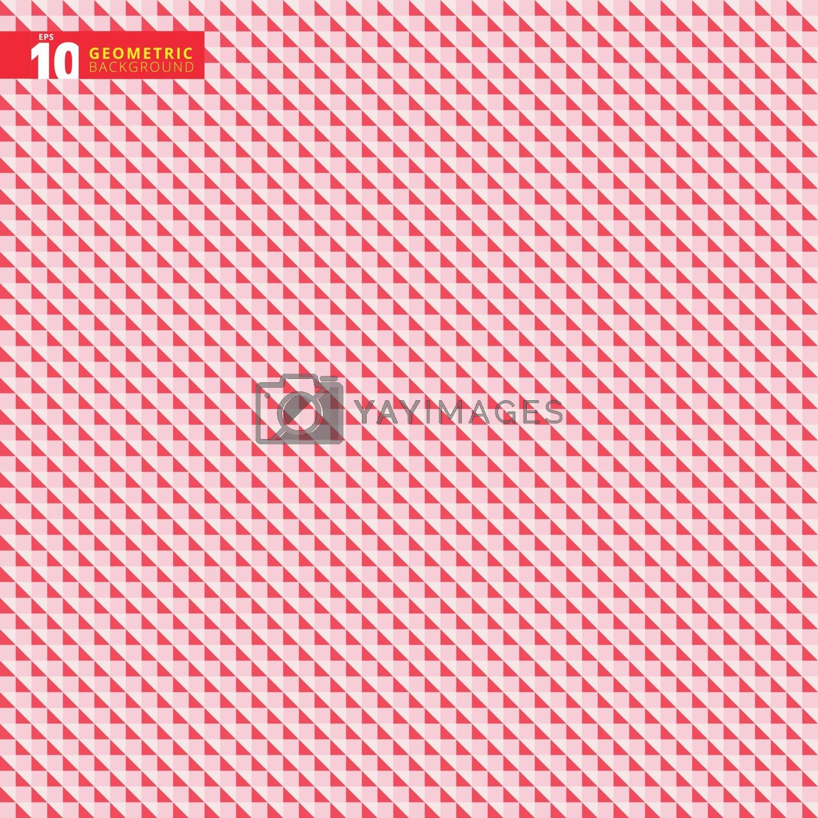 Abstract geometric triangle red pattern background texture, Vector illustration