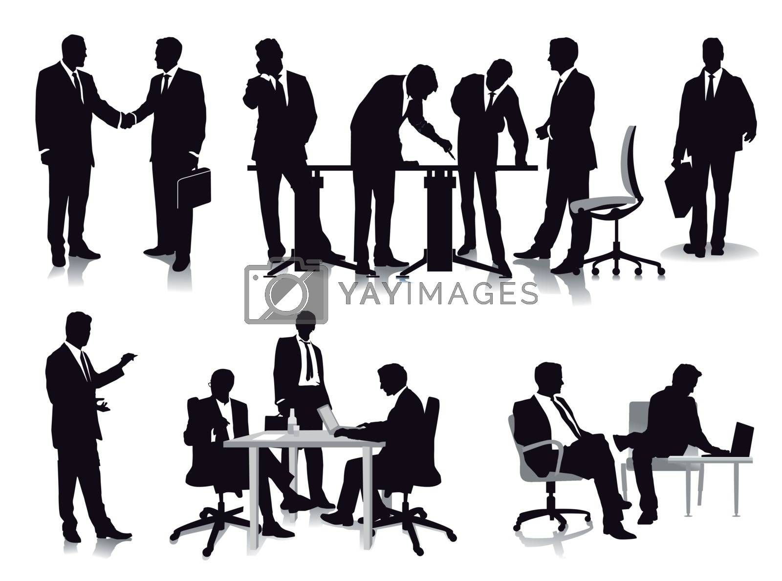 Business people, management and administration