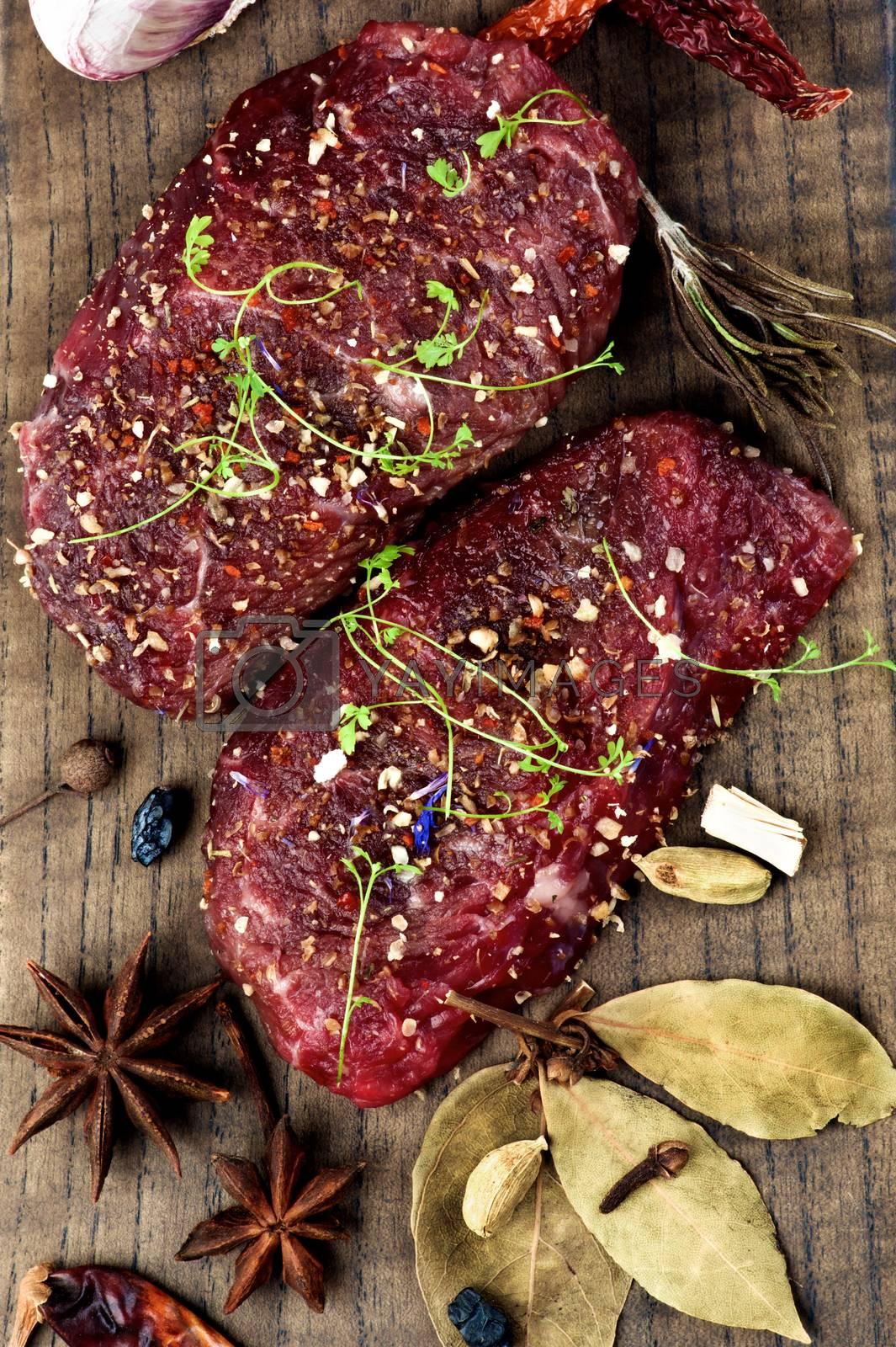 Marinated Raw Beef by zhekos