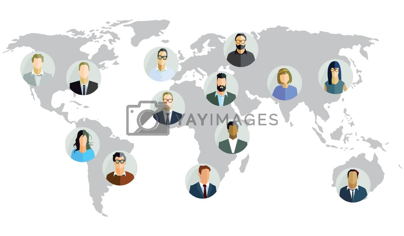 World trade global, illustration
