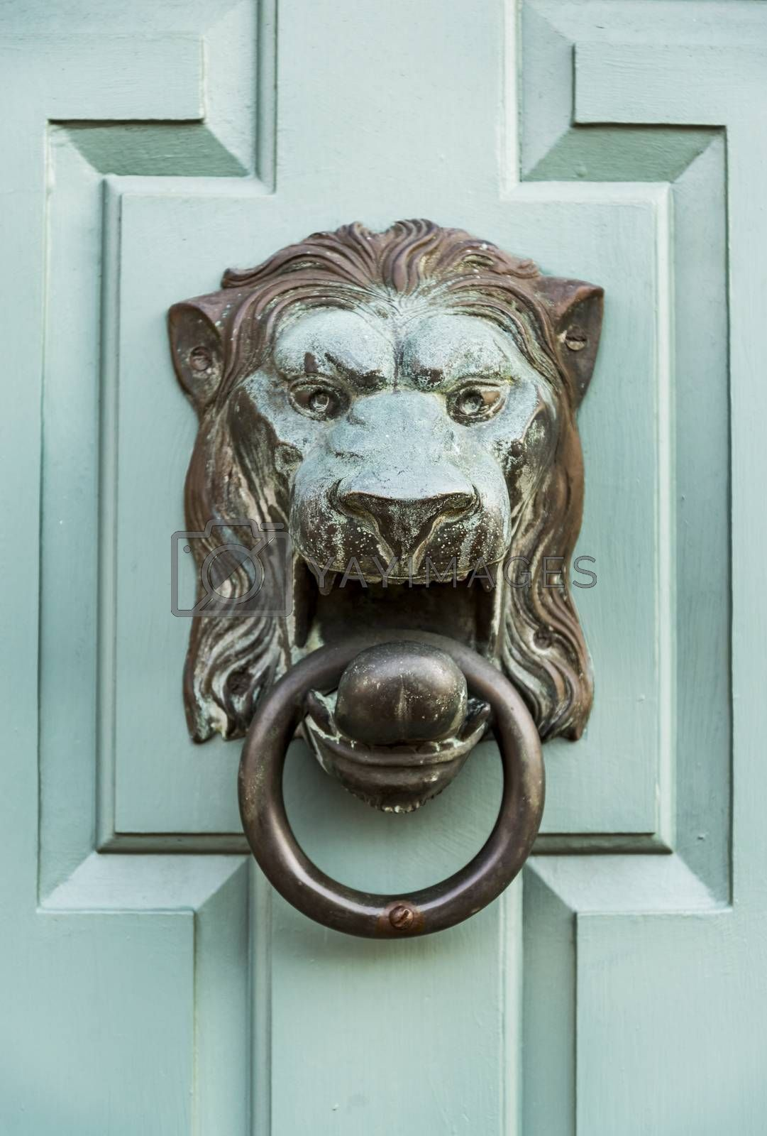 Detail of Front Door of a New England house in Portsmouth, New Hampshire