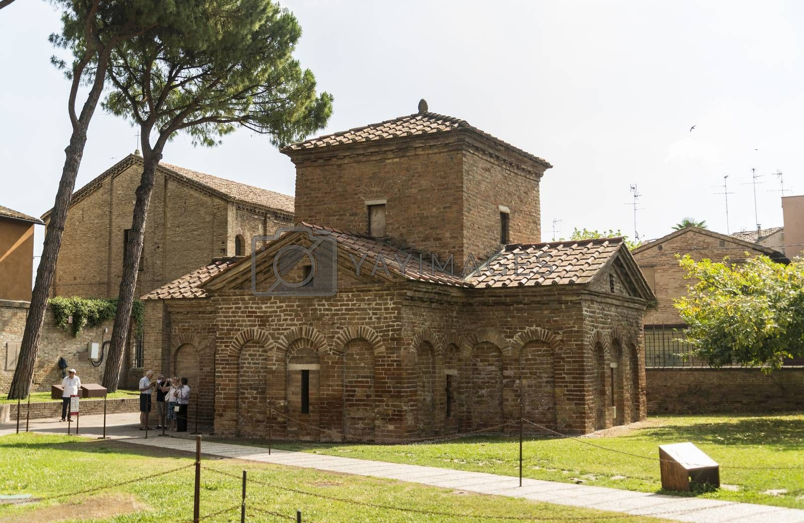RAVENNA -JUNE 17: famous Basilica di San Vitale, one of the most important examples of early Christian Byzantine art in western Europe, on june 17, 2017 in Ravenna, region of Emilia-Romagna, Italy