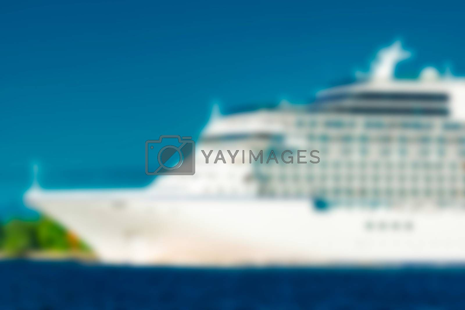 Cruise liner - blurred image by sengnsp