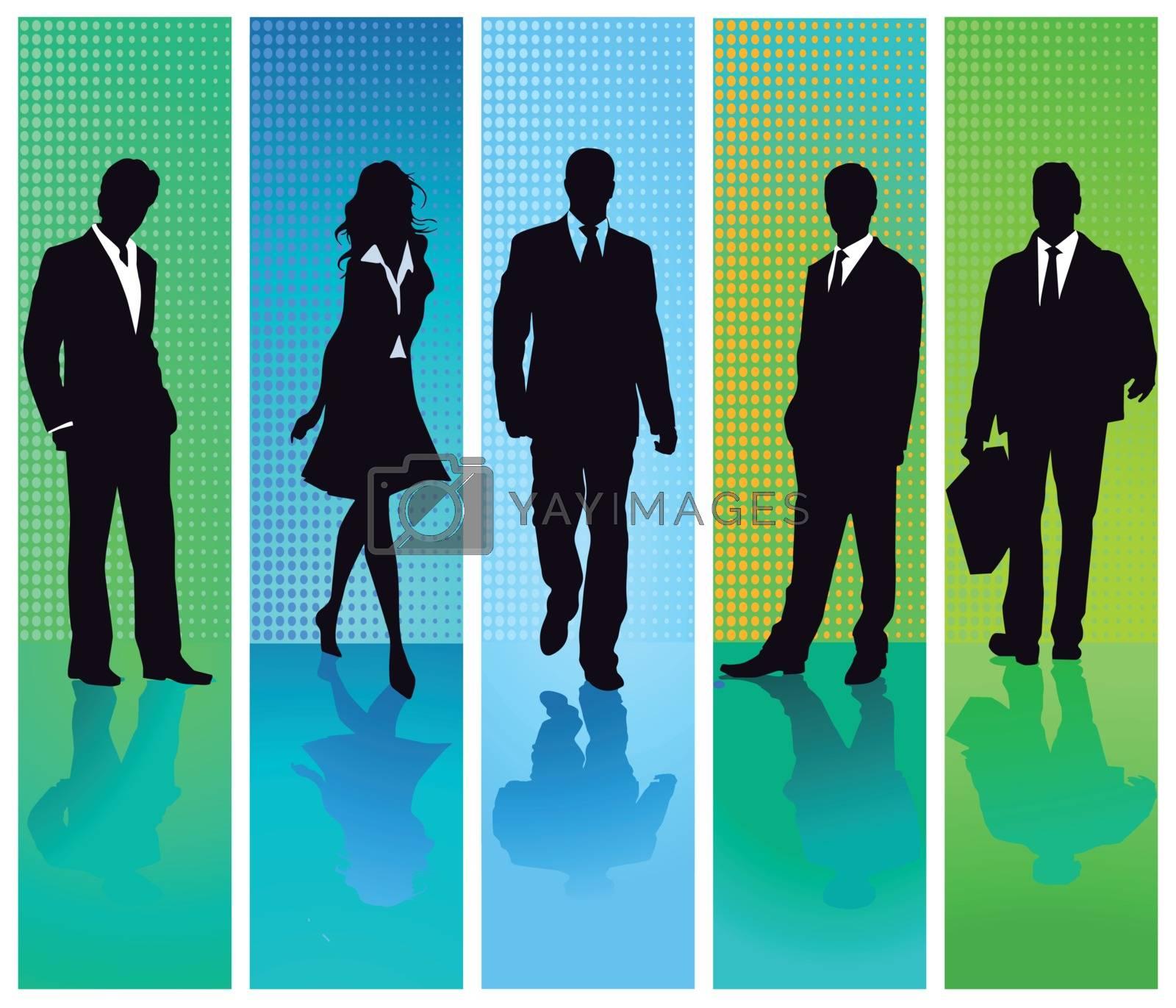 Business people groups set, illustration