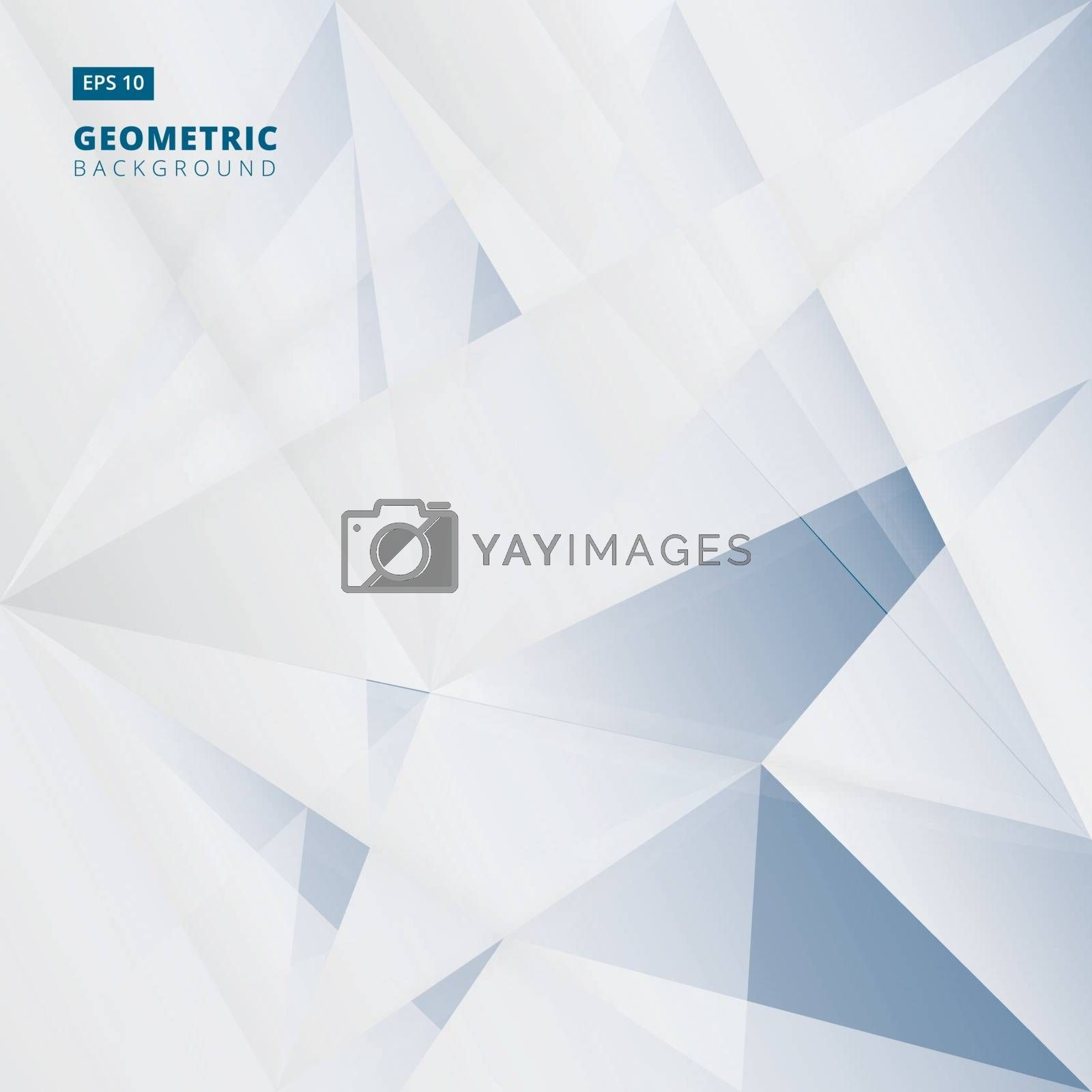 Abstract blue Lowpoly vector background. Template for style design. Vector illustration. Used transparency layers of background