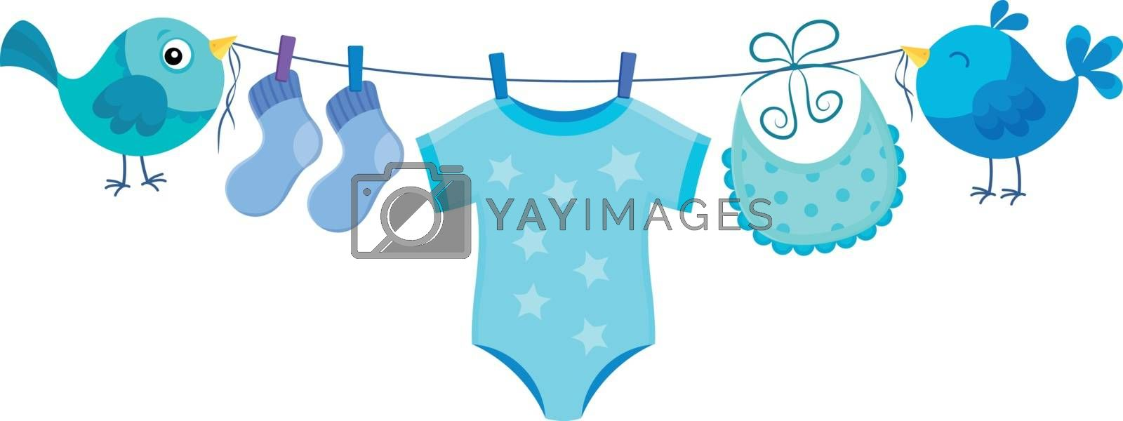 Line with clothing for baby boy - eps10 vector illustration.