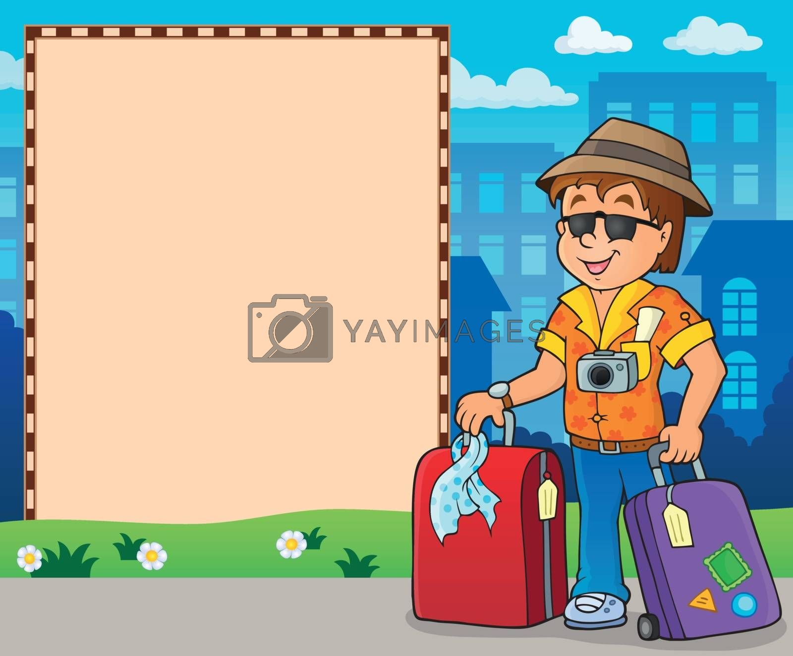 Frame with travel thematics 2 - eps10 vector illustration.