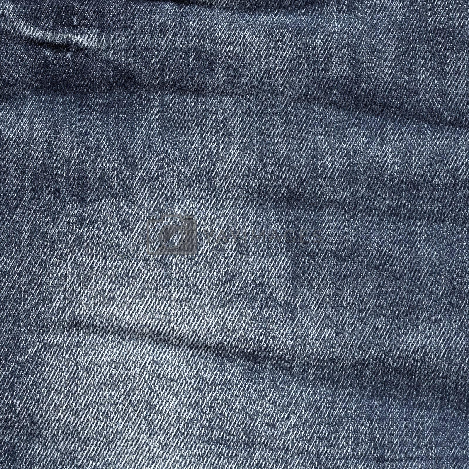 Grey Jeans Denim Crumpled Texture. Fashion modern style