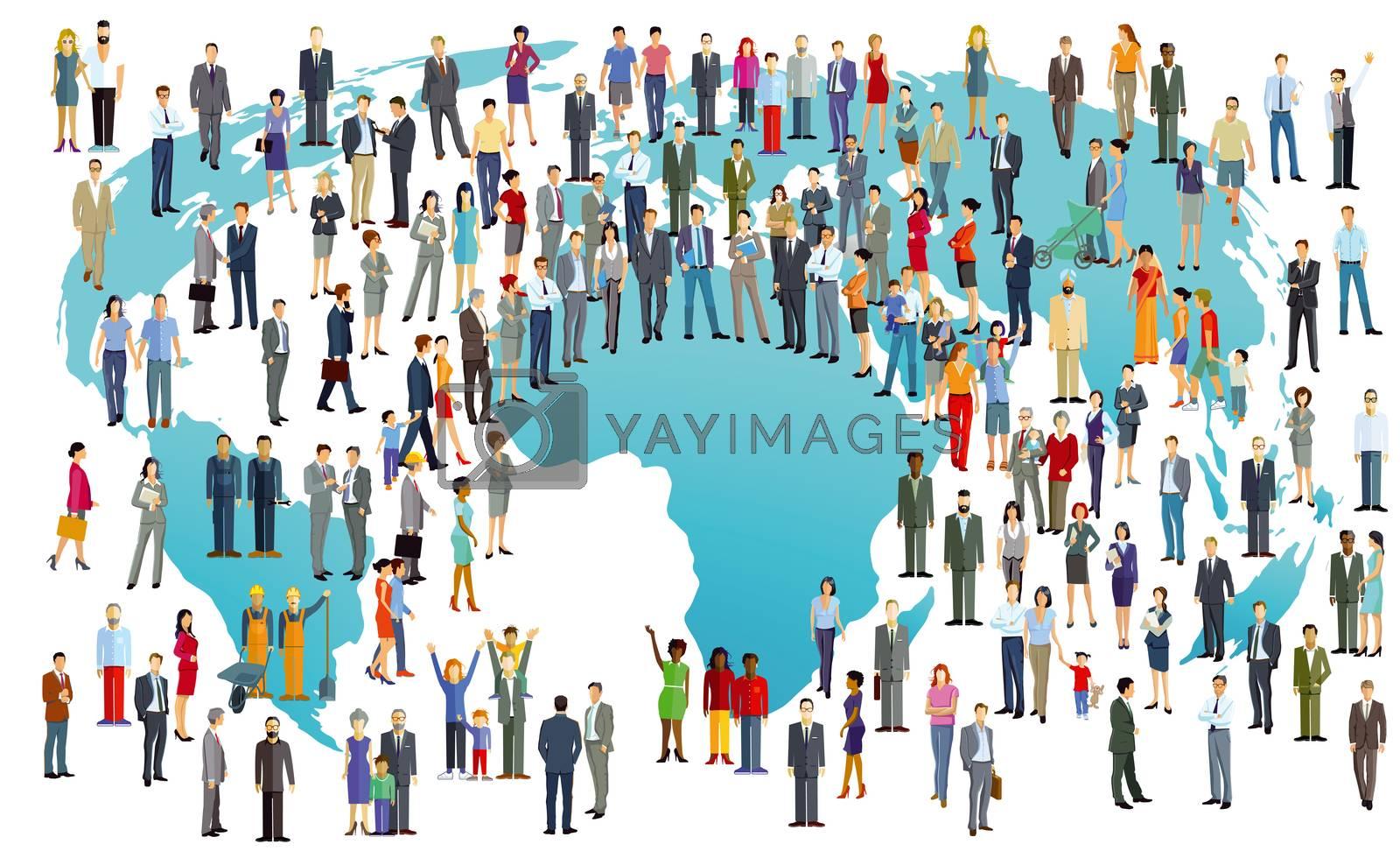 World Population International, illustration