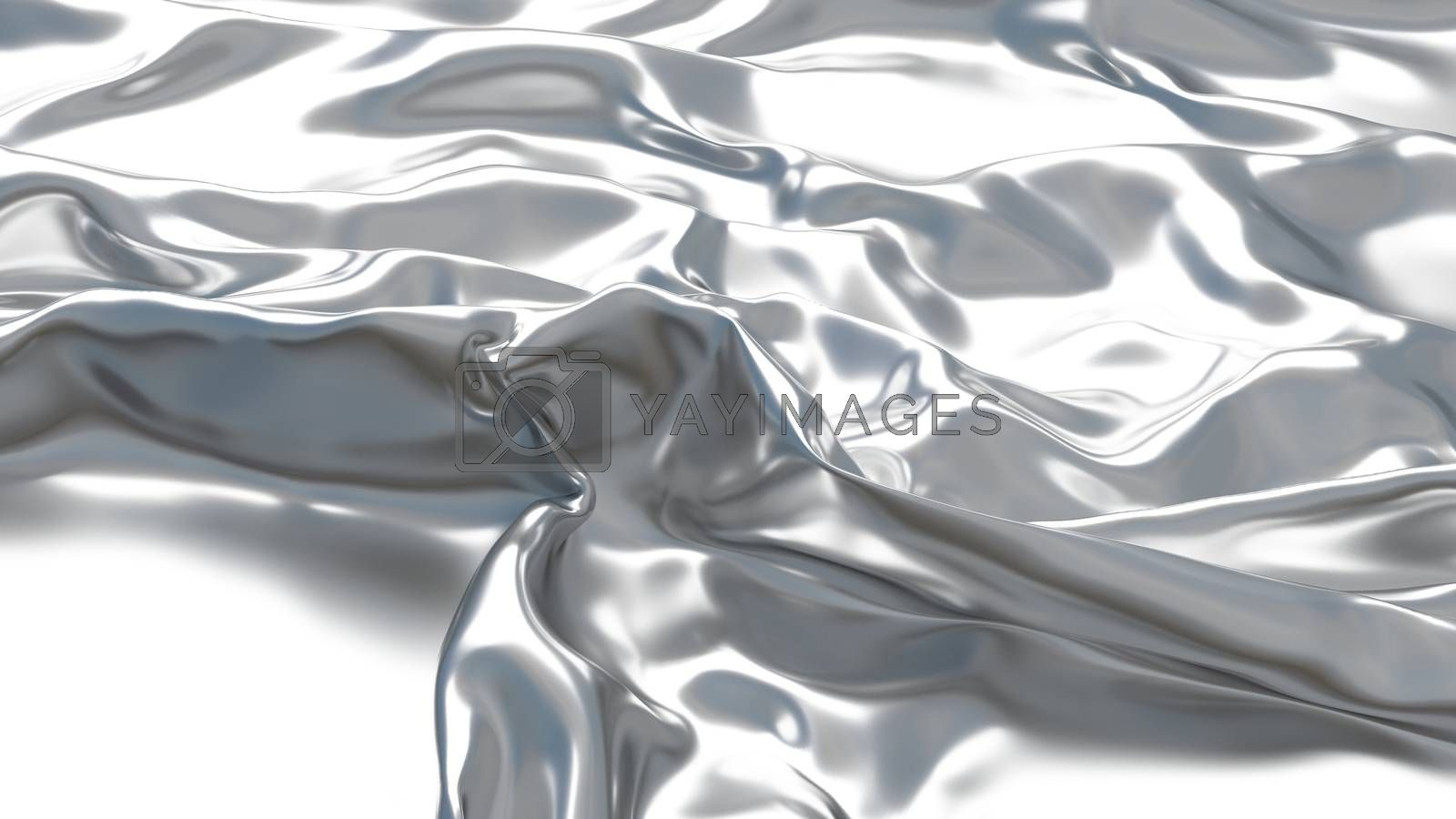 3D Illustration Abstract Silver Background with Glare