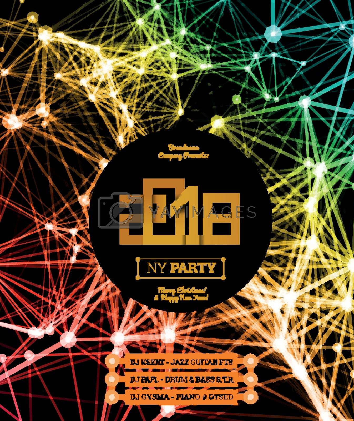 Royalty free image of Invitation to the New Year party of 2018 by sermax55