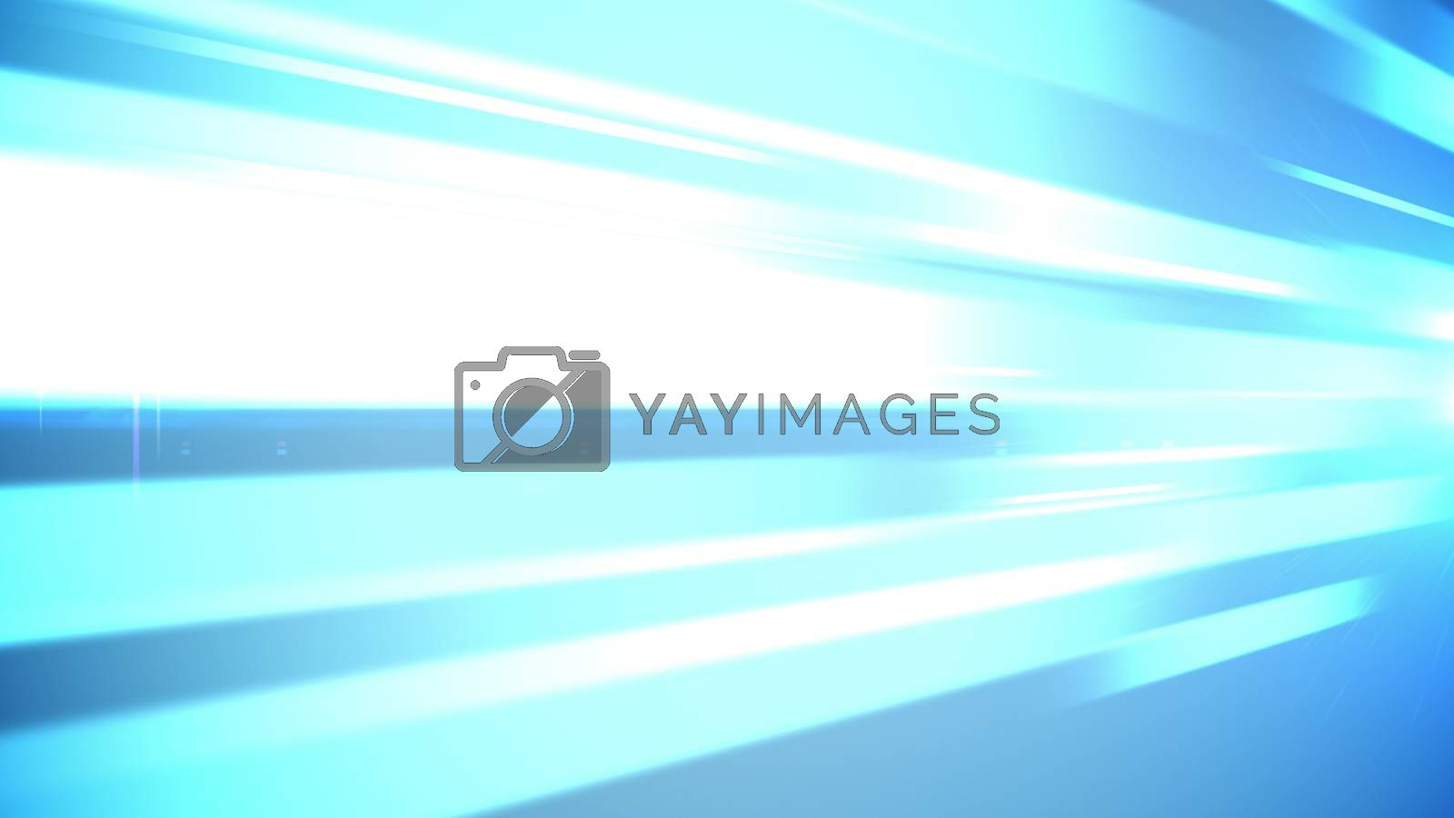 An artistic 3d rendering of blue and white bar lines inspiring people for flights of thought and brainstorming decisions. The image has a mesmerizing effect