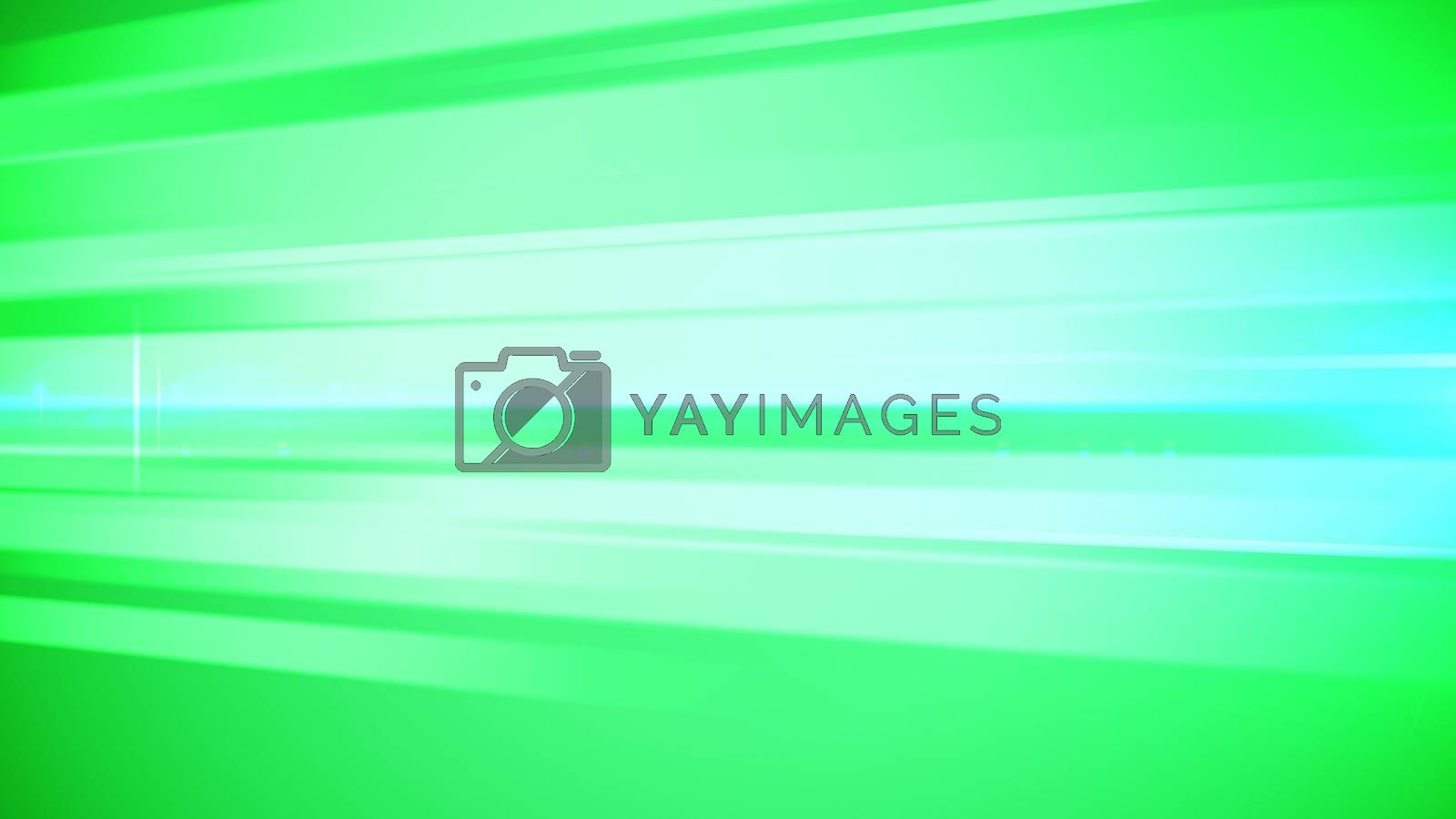 An astonishing 3d illustration of light green, salad and white bar lines stirring people for flights of thought and artistic ideas. The image has a psychodelic effect. It is placed aslant.