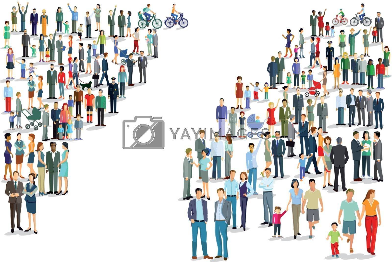People groups directions, Illustration