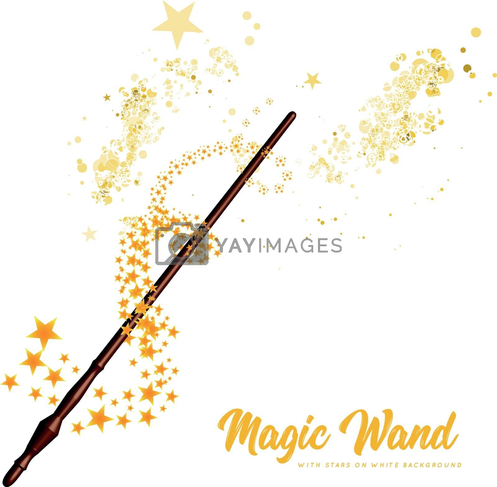 Royalty free image of Magic wand with stars on white background by sermax55
