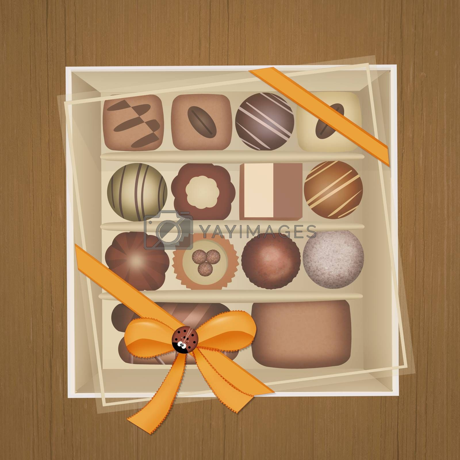 chocolates in the box by adrenalina