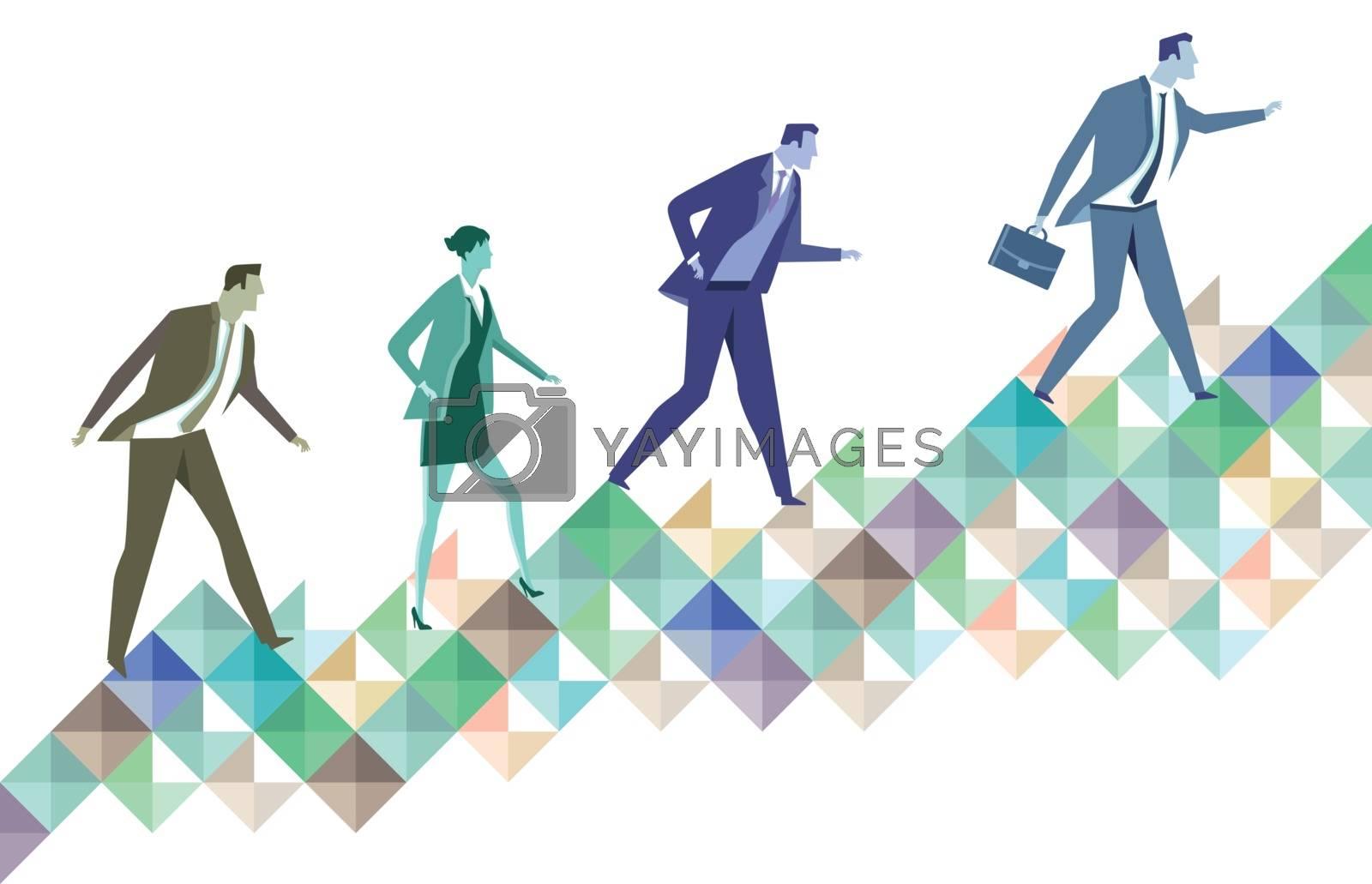 Career ladder, symbol illustration