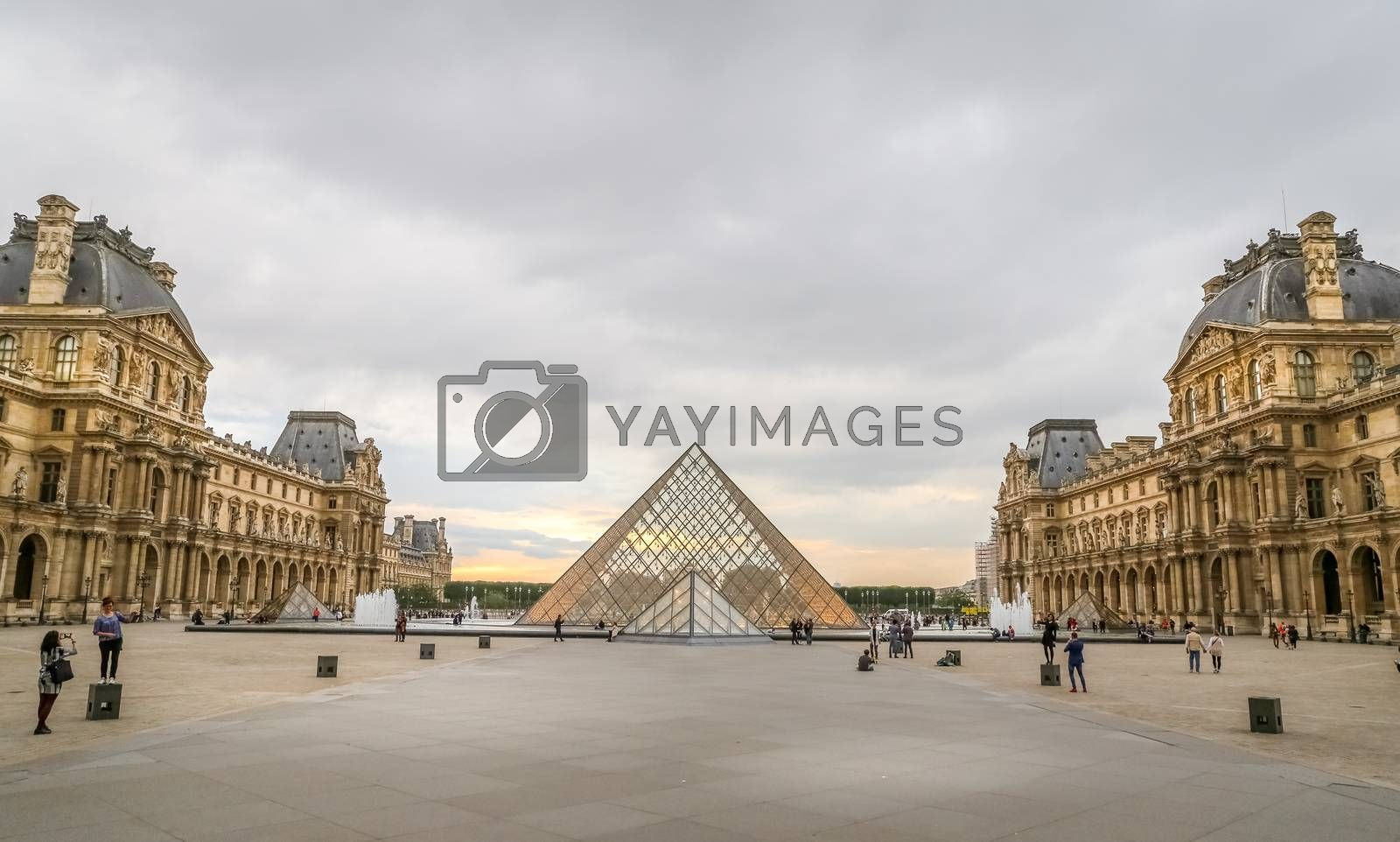 Louvre Museum in Paris City by EvrenKalinbacak