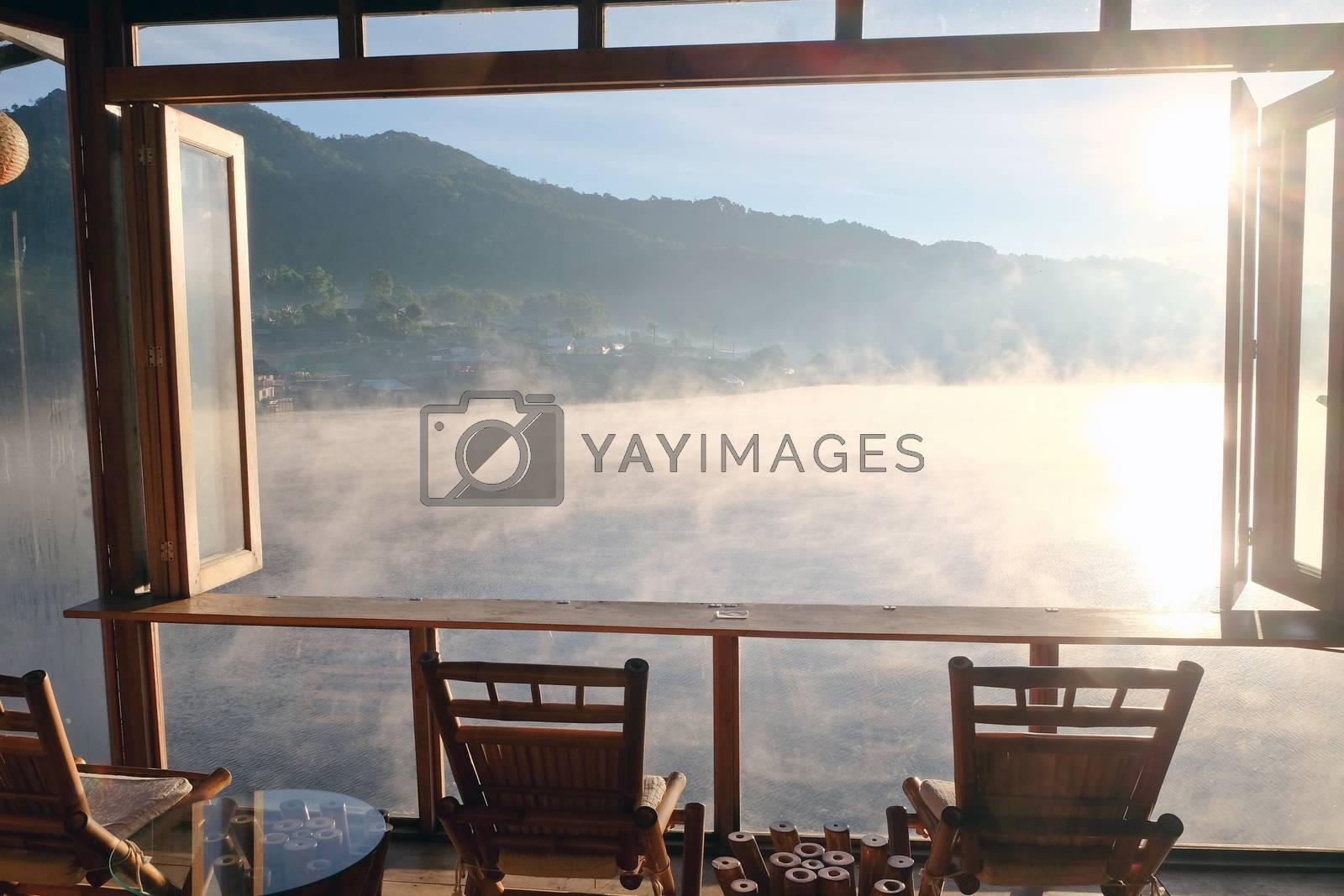 Dawn at Ban Rak thai Lake by ponsulak