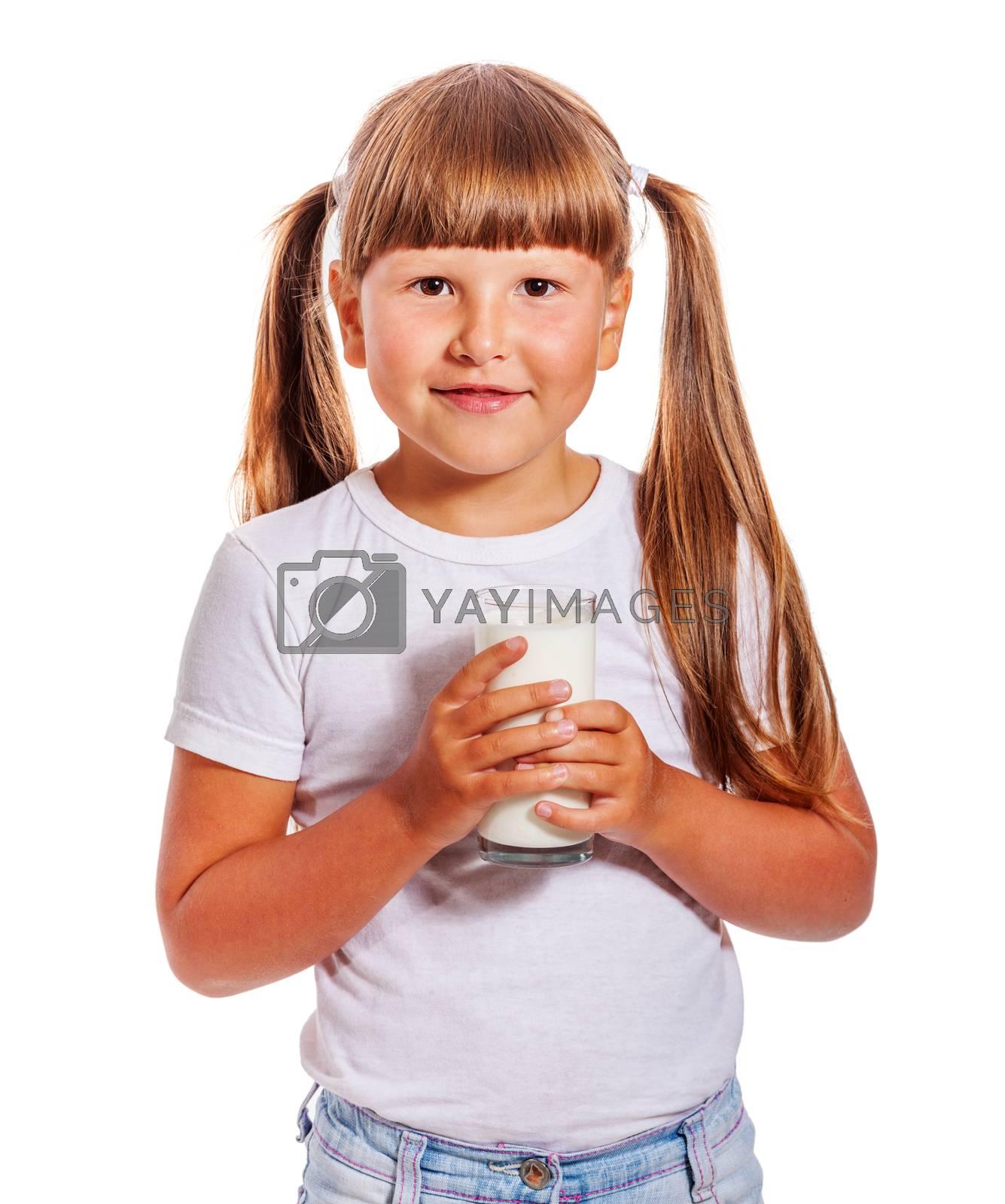 Girl loves milk by olga_sweet